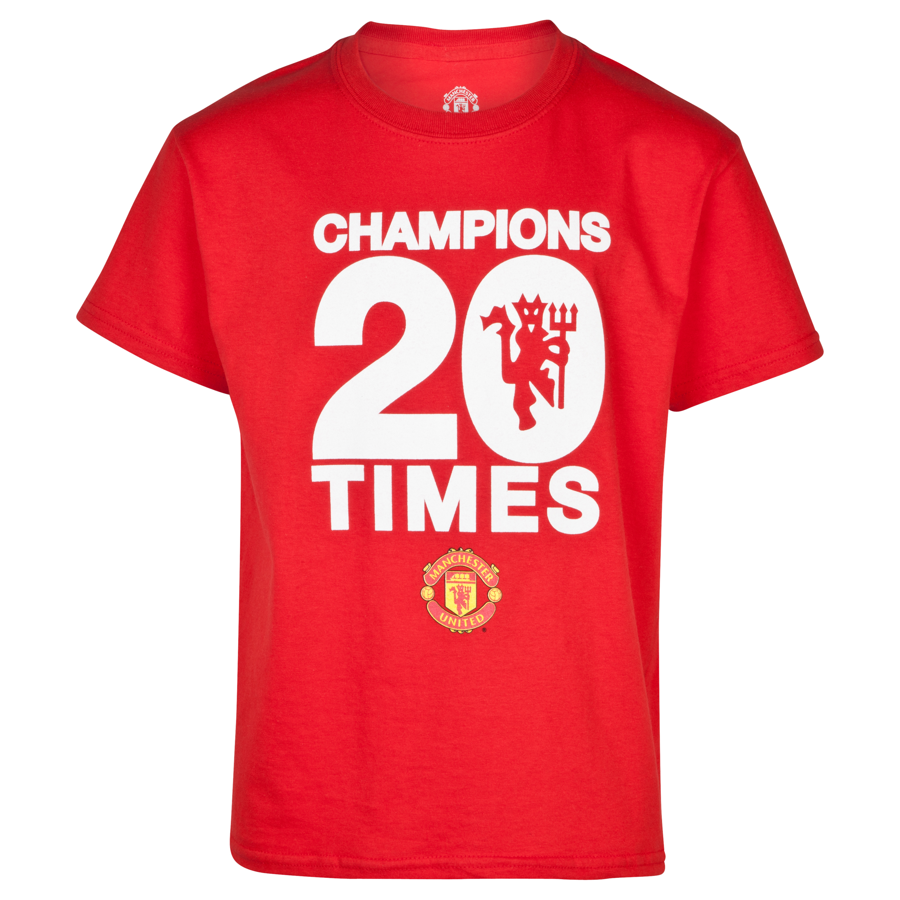 Manchester United 20 Times League Champions T-Shirt - Kids Red