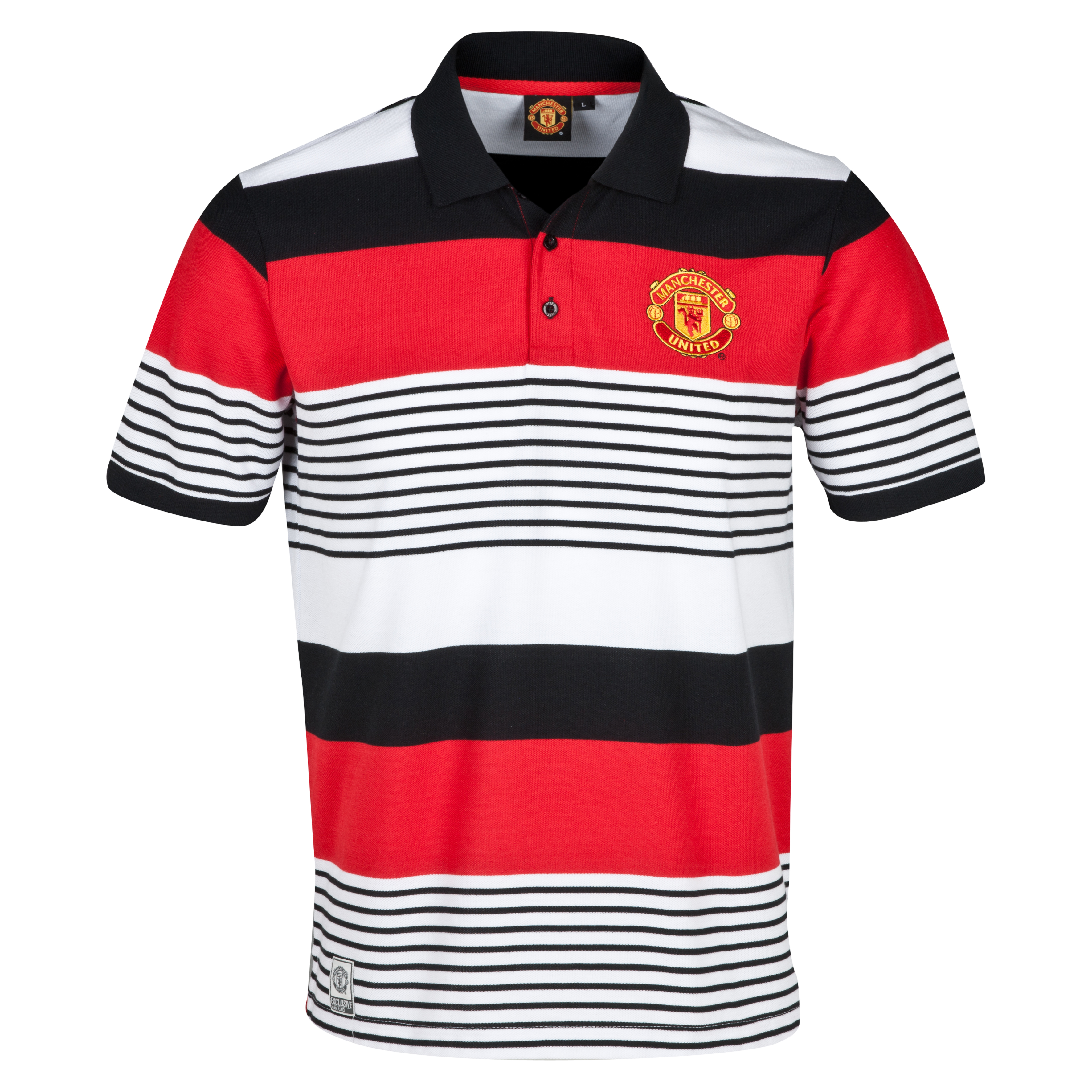 Manchester United Classic Striped Polo - Mens Multi