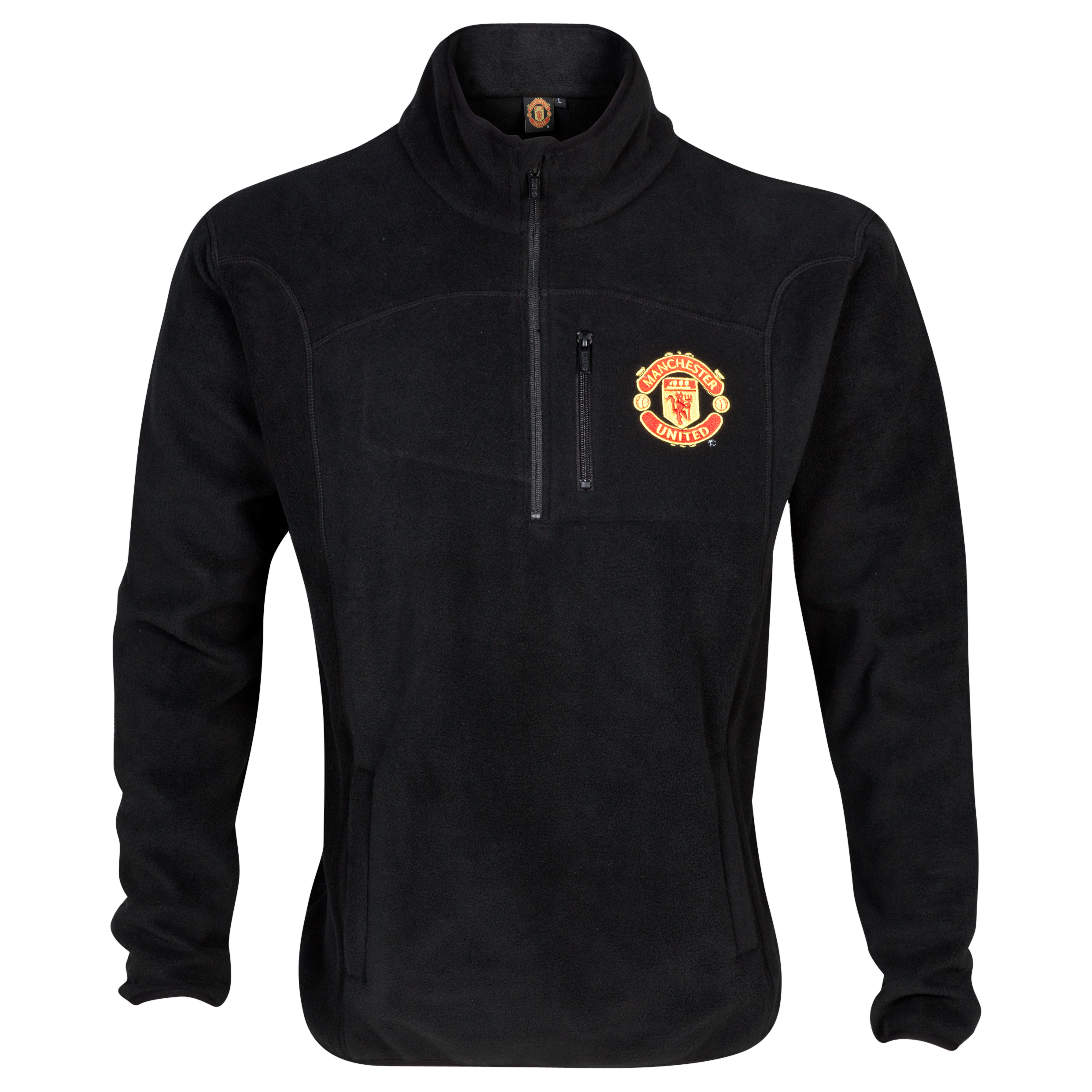 Manchester United Classic 1/2 Zip Neck Fleece  - Mens Black