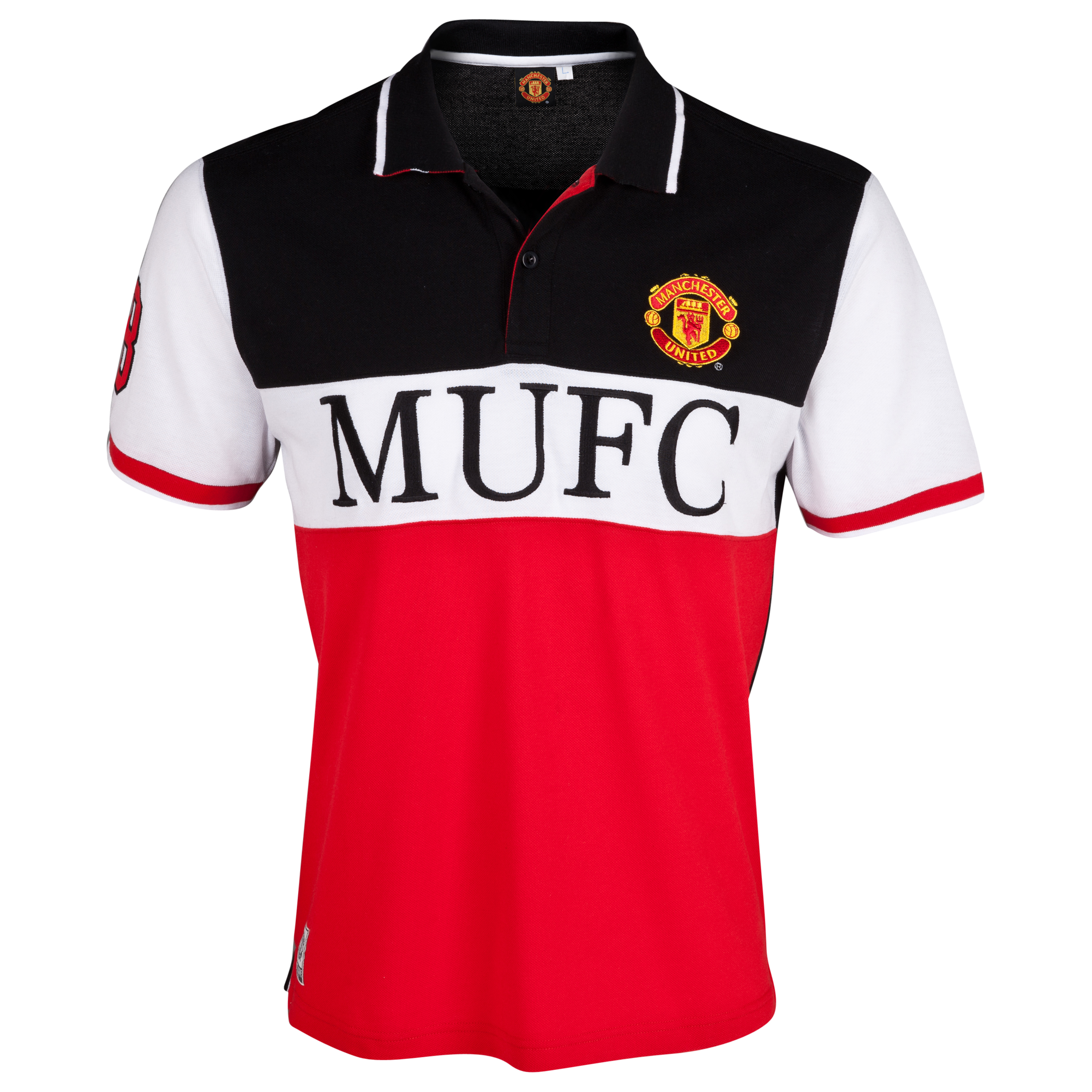 Manchester United Paneled Polo Shirt- Older Boys Multi