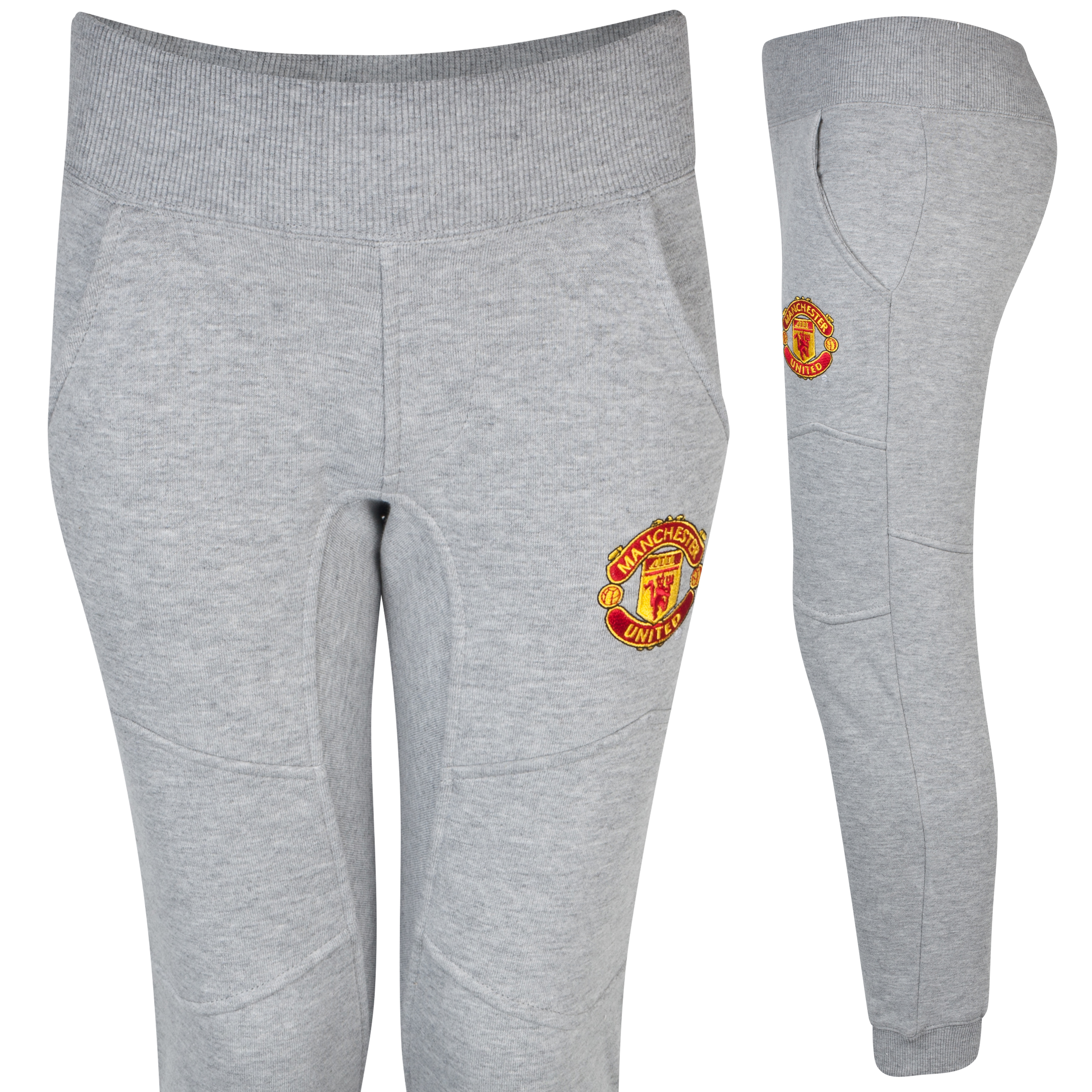 Manchester United Fleece Joggers Older Boys Grey