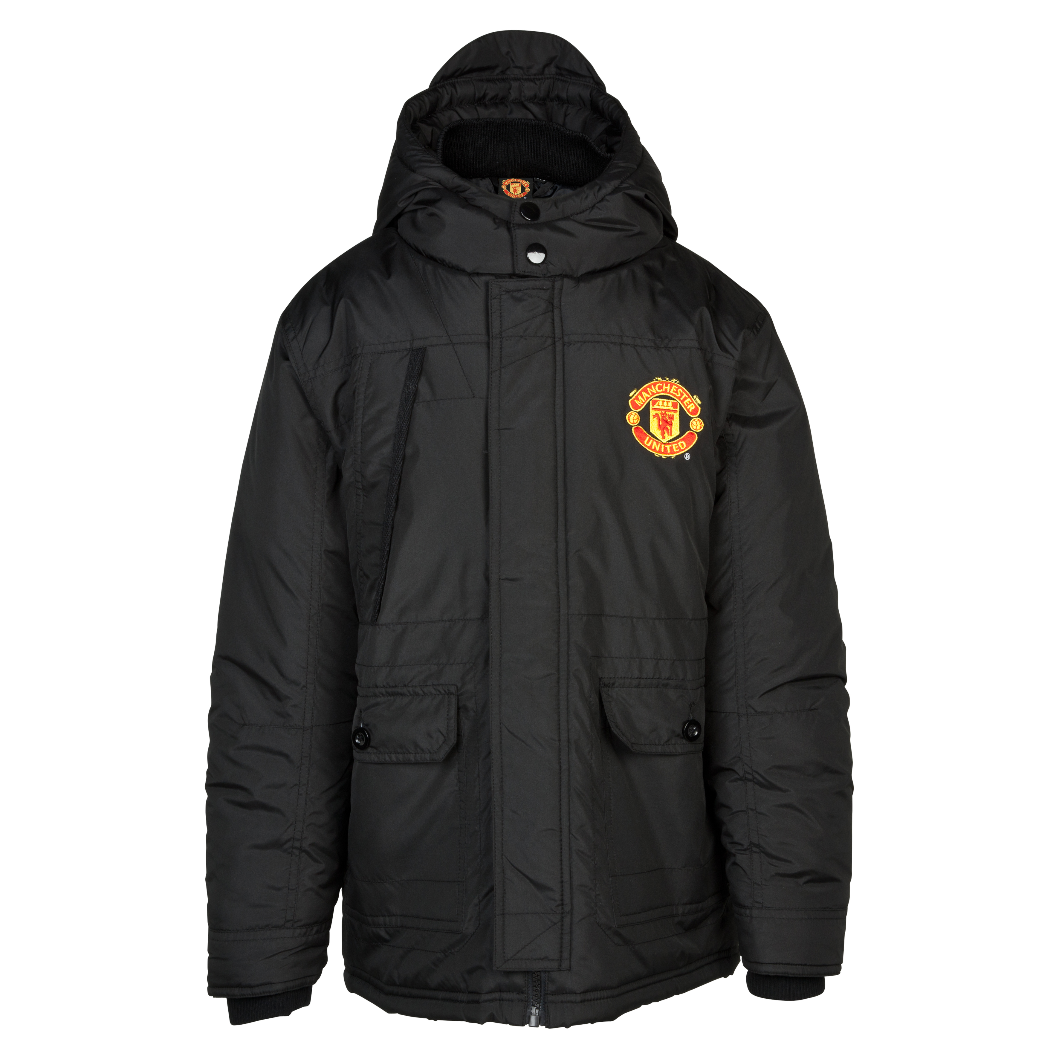 Manchester United Padded Jacket - Older Boys Black