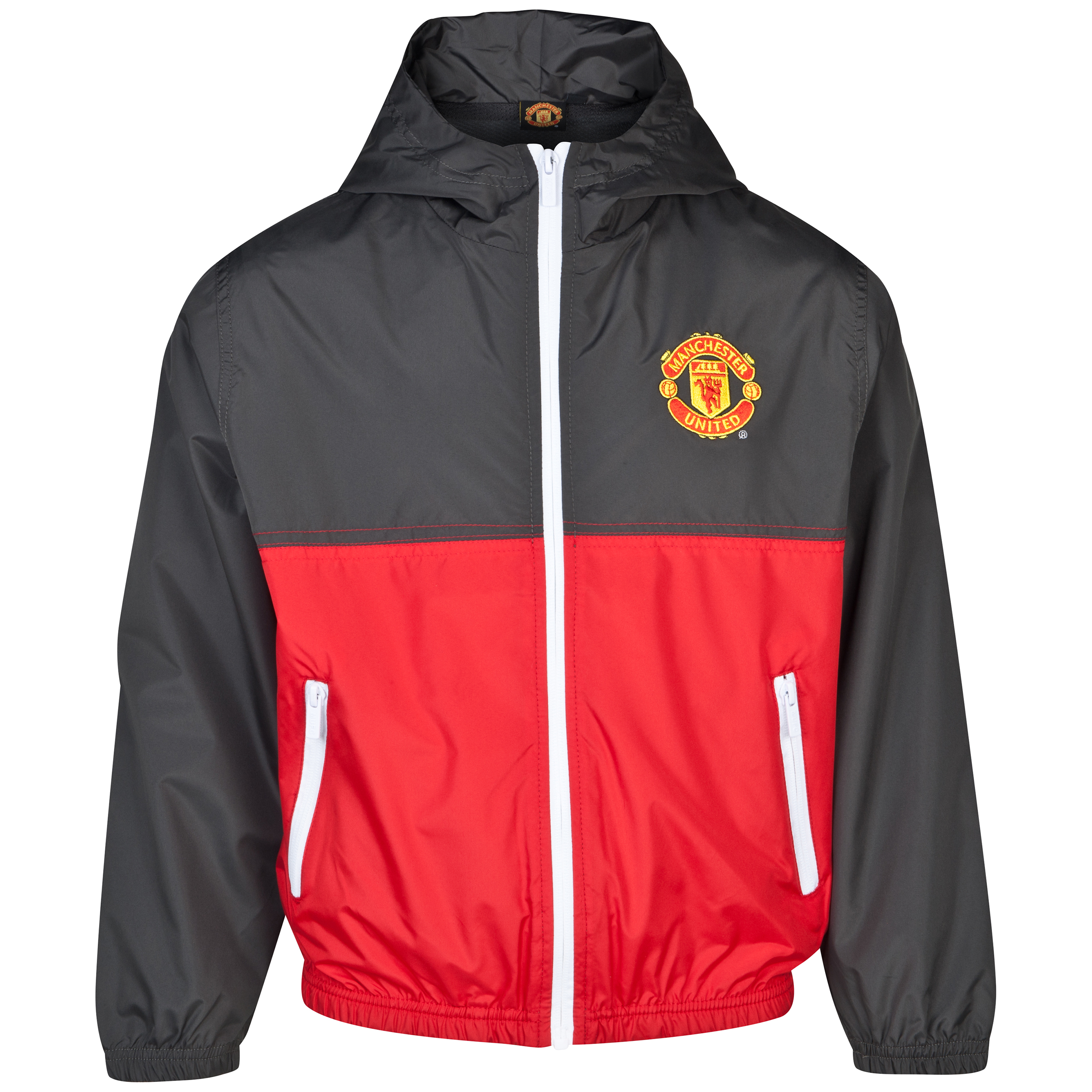 Manchester United Shower Jacket - Carbon - Older Boys Dk Grey