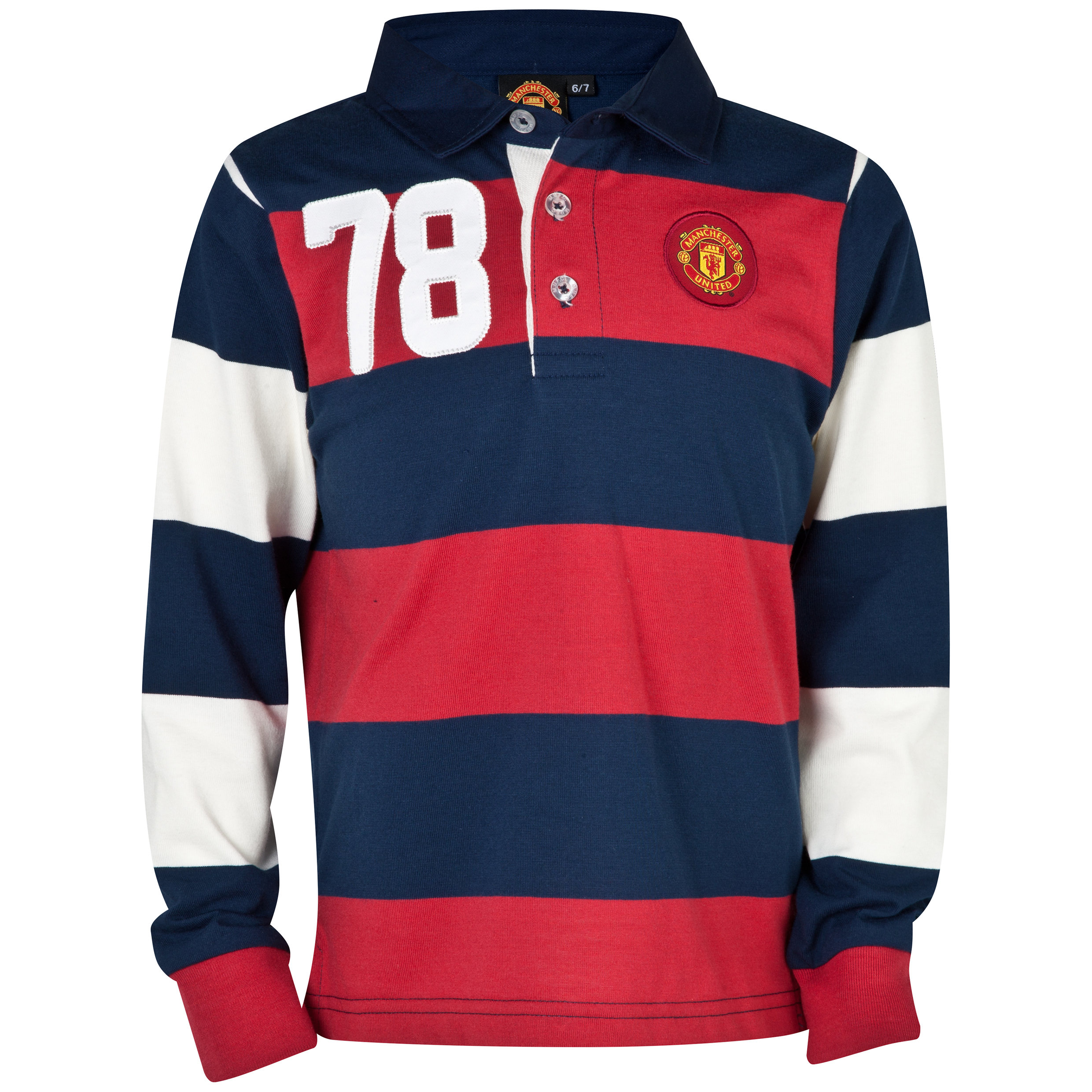 Manchester United 78 Rugby Shirt  - Infant Boys Navy