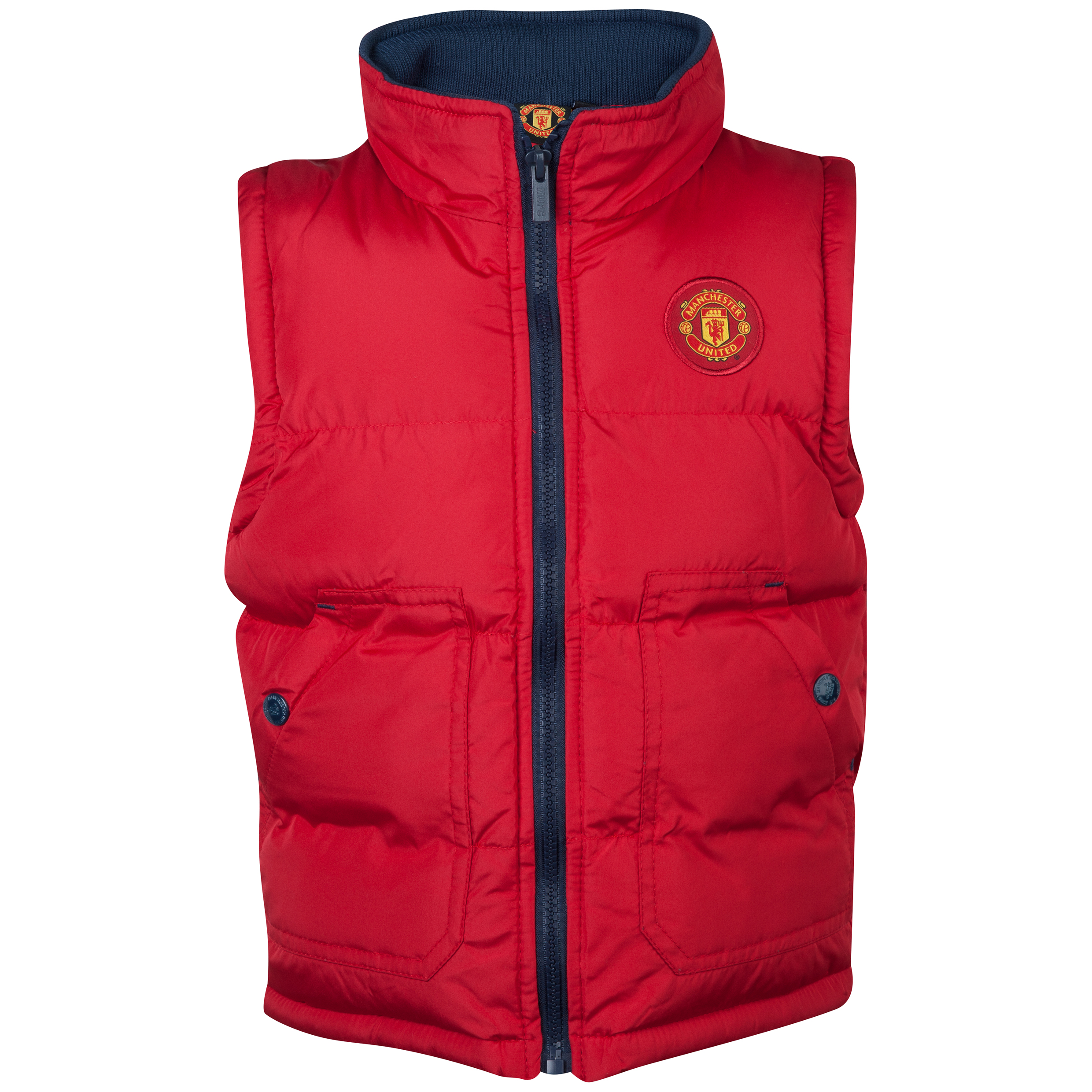 Manchester United Puffa Gilet  - Infant Boys Red