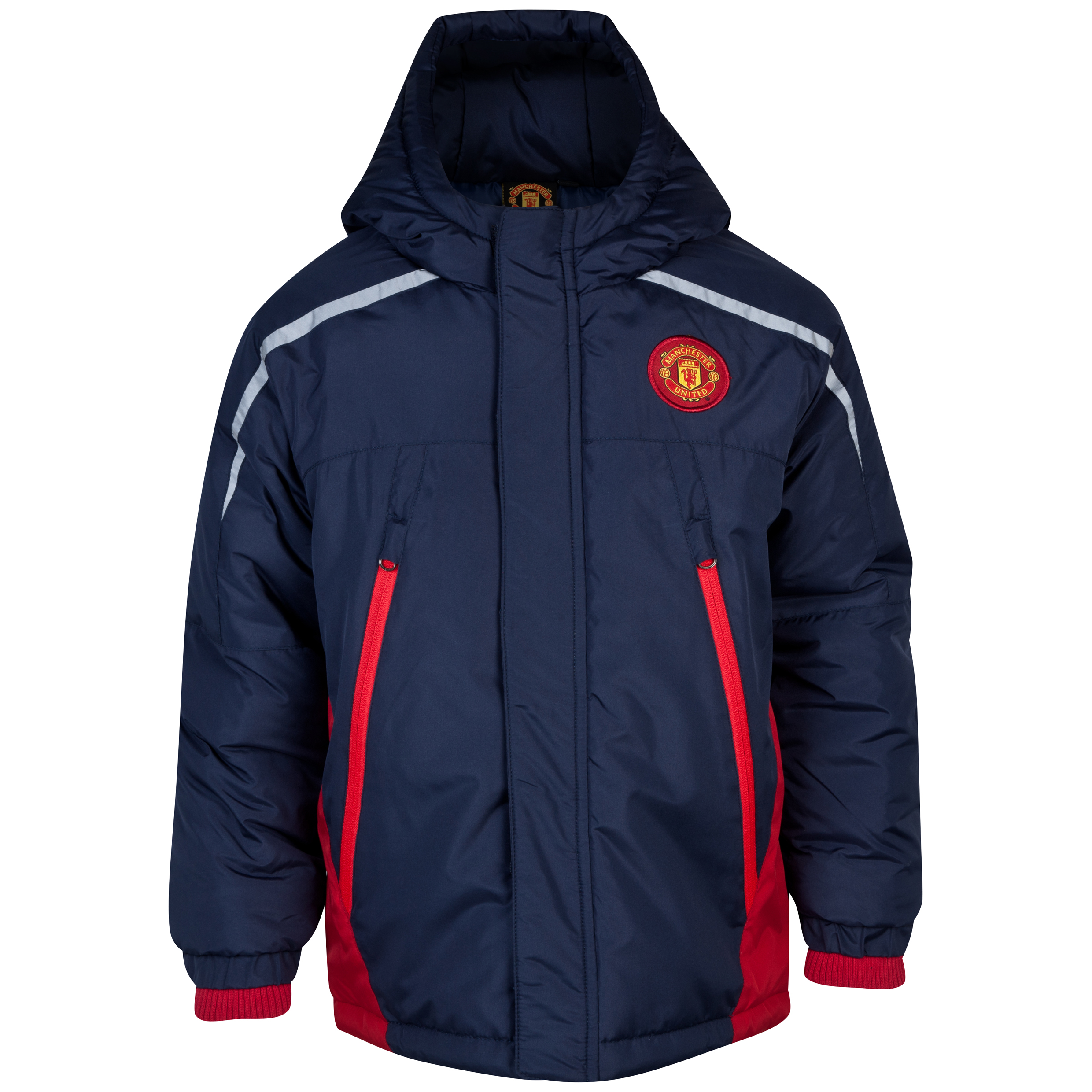 Manchester United Paneled Padded Jacket  - Infant Boys Navy