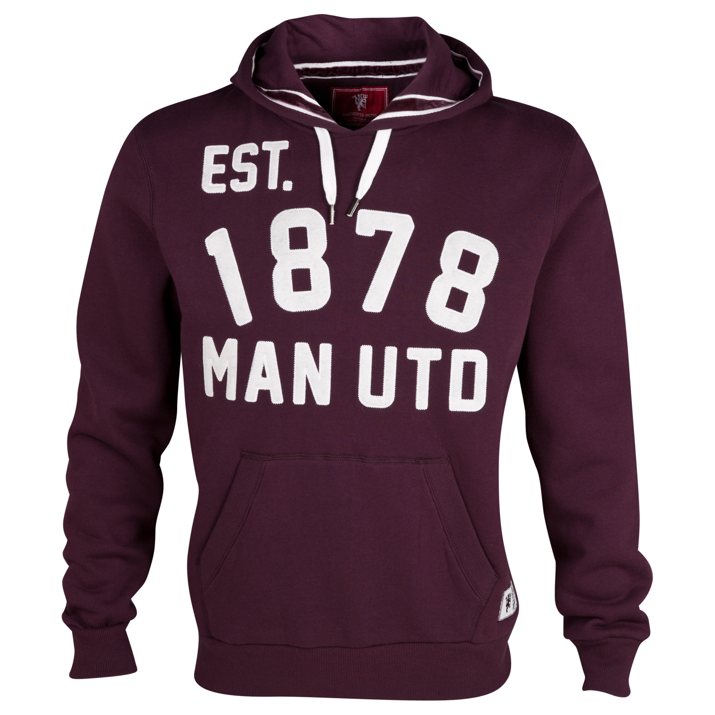Manchester United Heritage Applique Graphic Hoody - Mens Purple