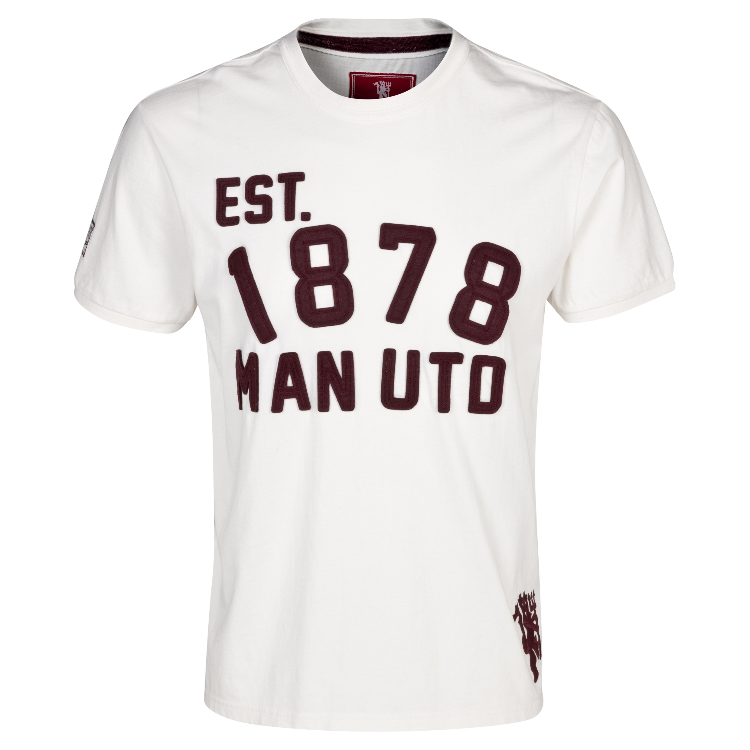 Manchester United Heritage Devils Number Graphic T-Shirt - Mens Beige
