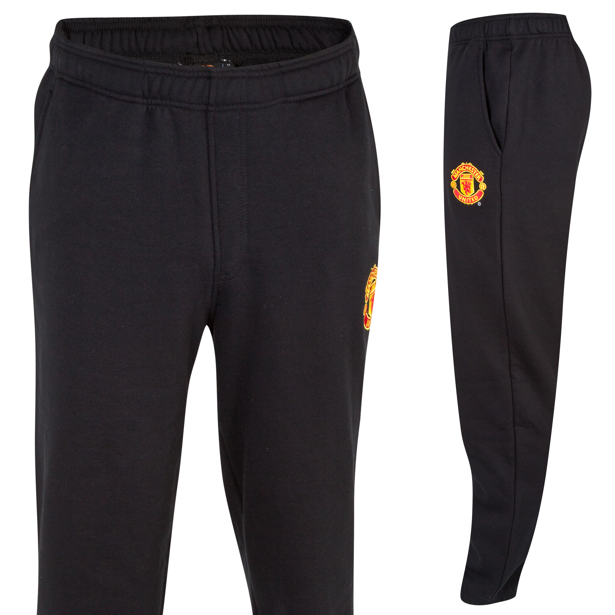 Manchester United Classic Fleece Joggers  - Mens Black
