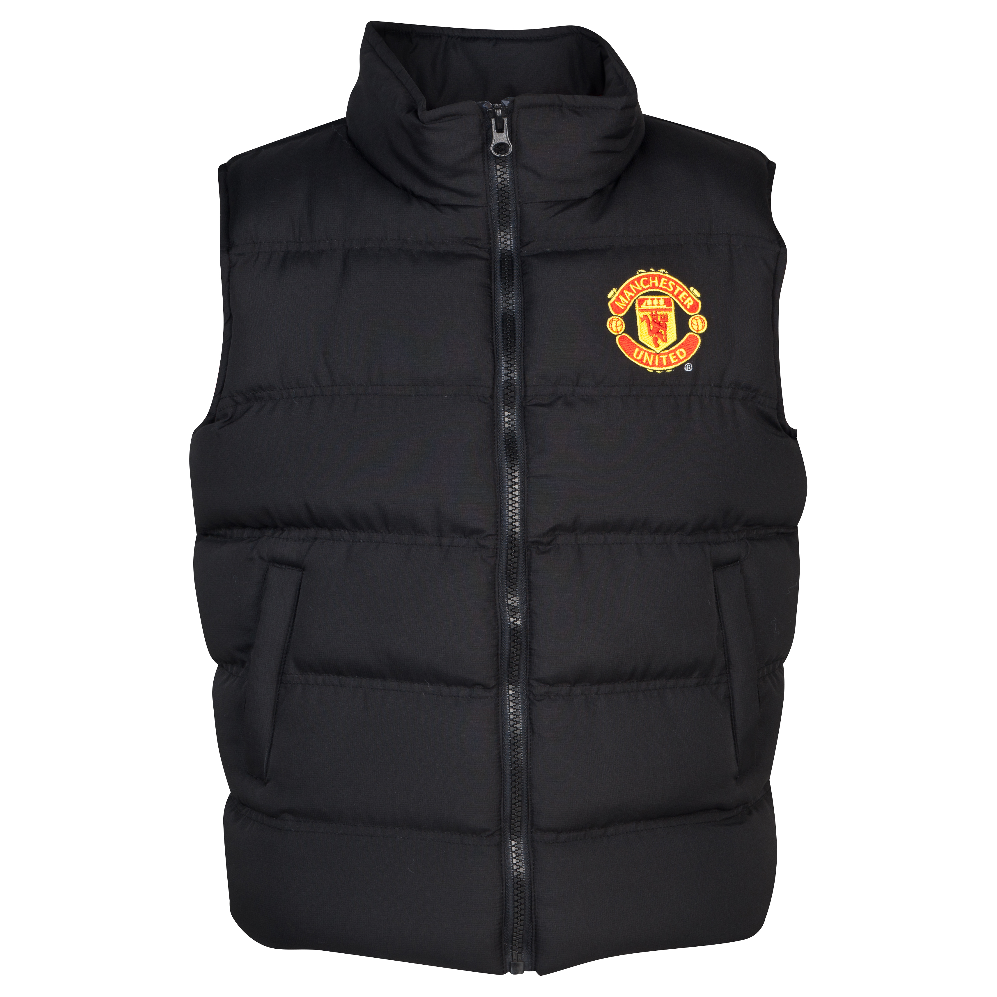 Manchester United Puffa Gilet  - Older Boys Black
