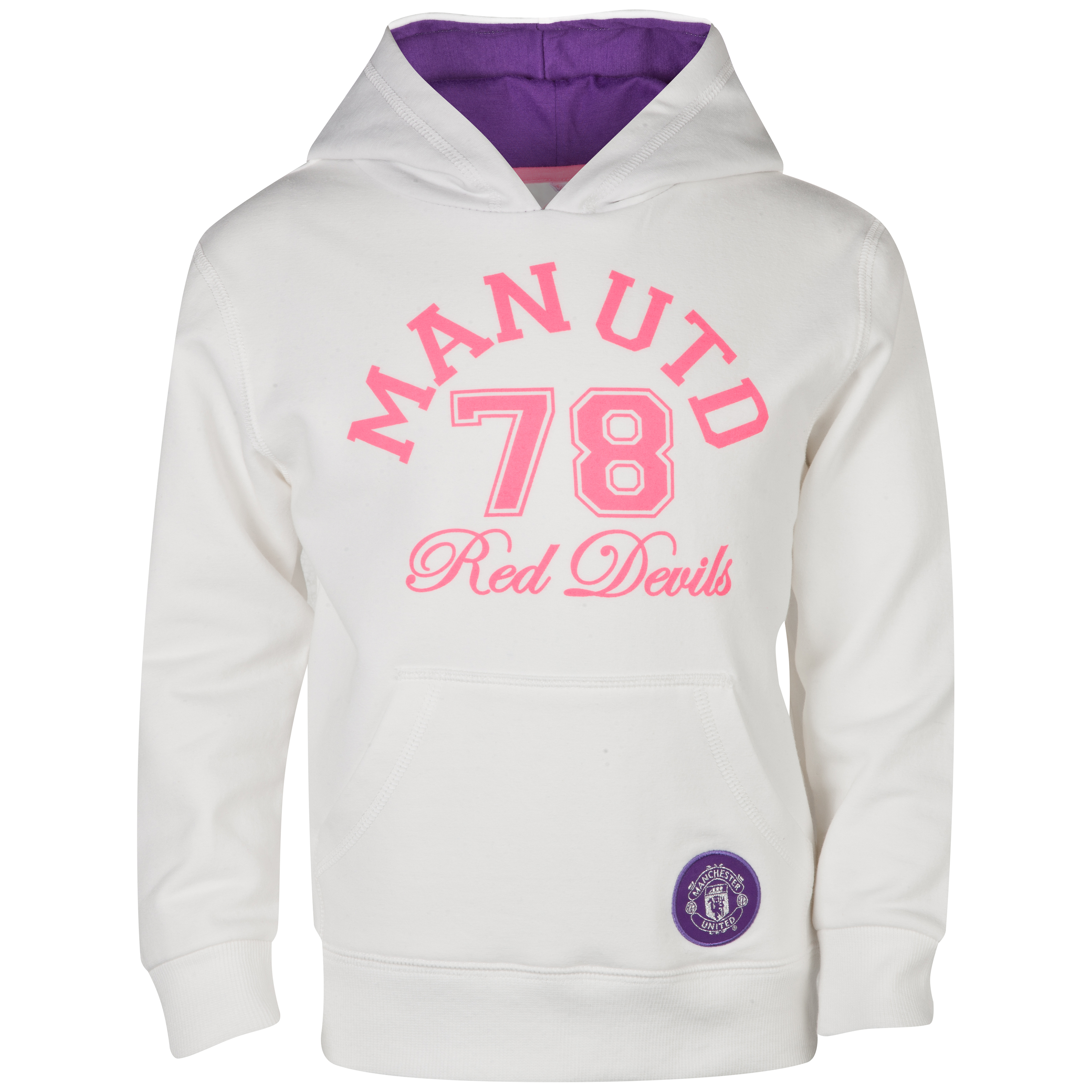 Manchester United 78 Red Devils Hoody - Girls Beige