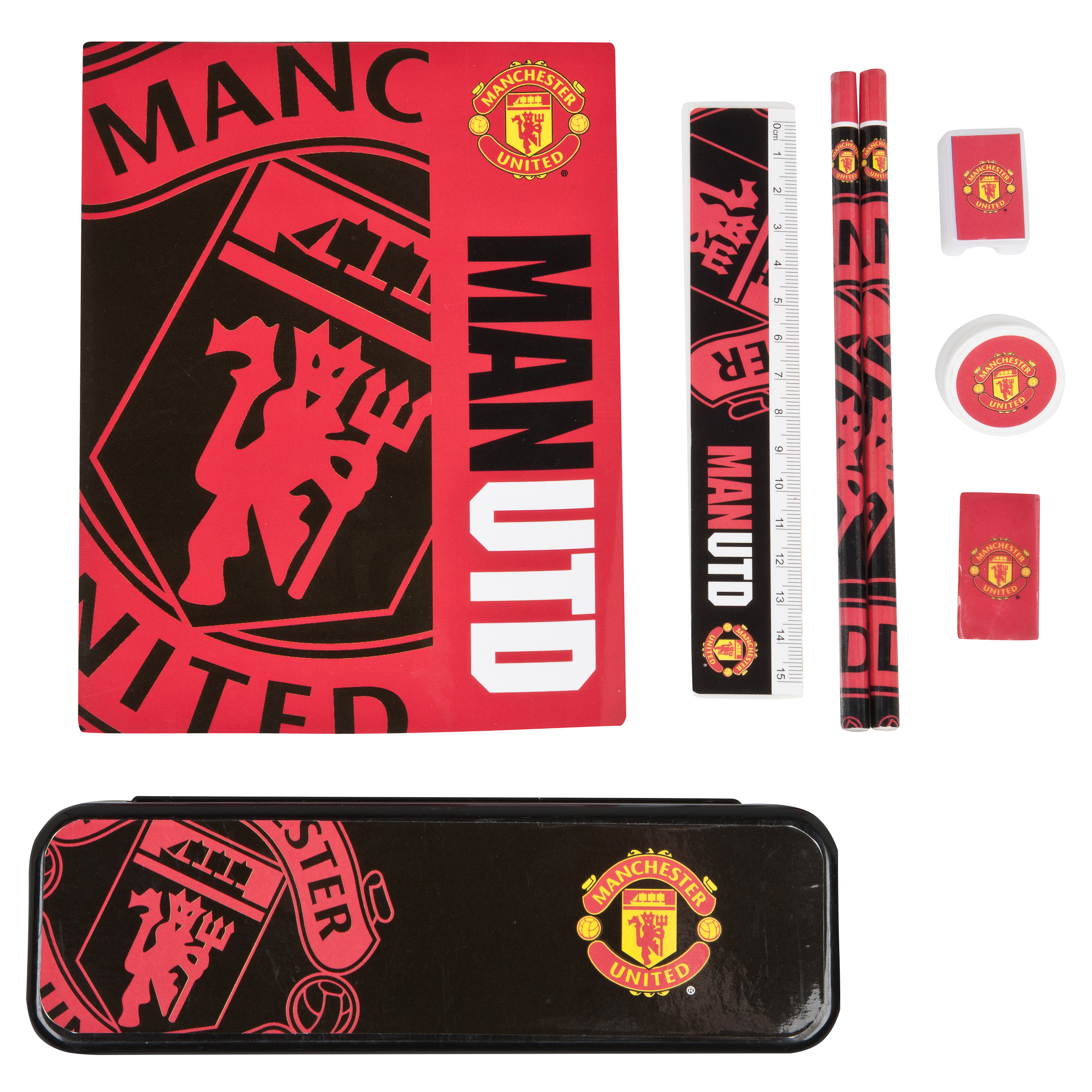 Manchester United Big Logo Student Stationery Set