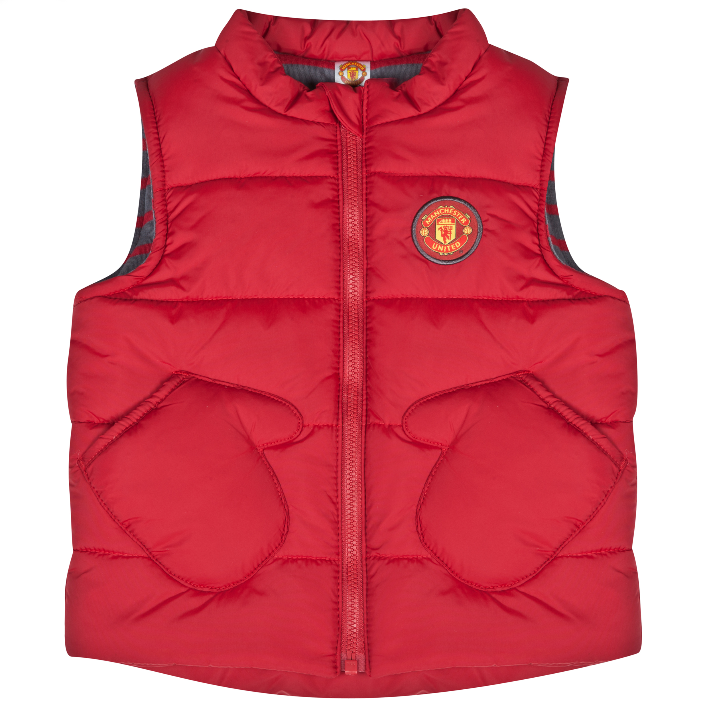Manchester United Padded Gilet Baby Boys Red