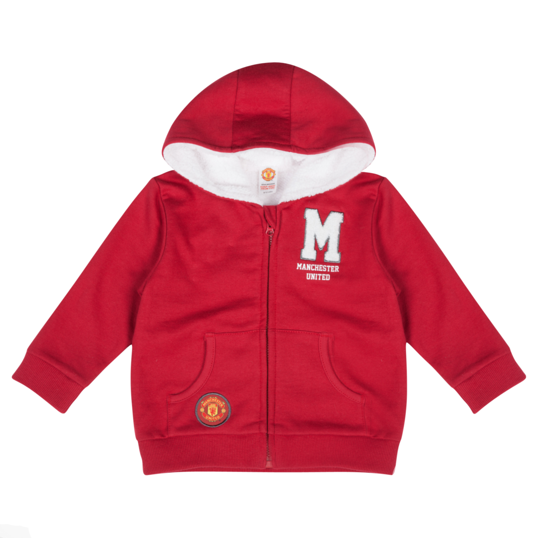 Manchester United Cuddle Fleece Hoodie Baby Boys Red