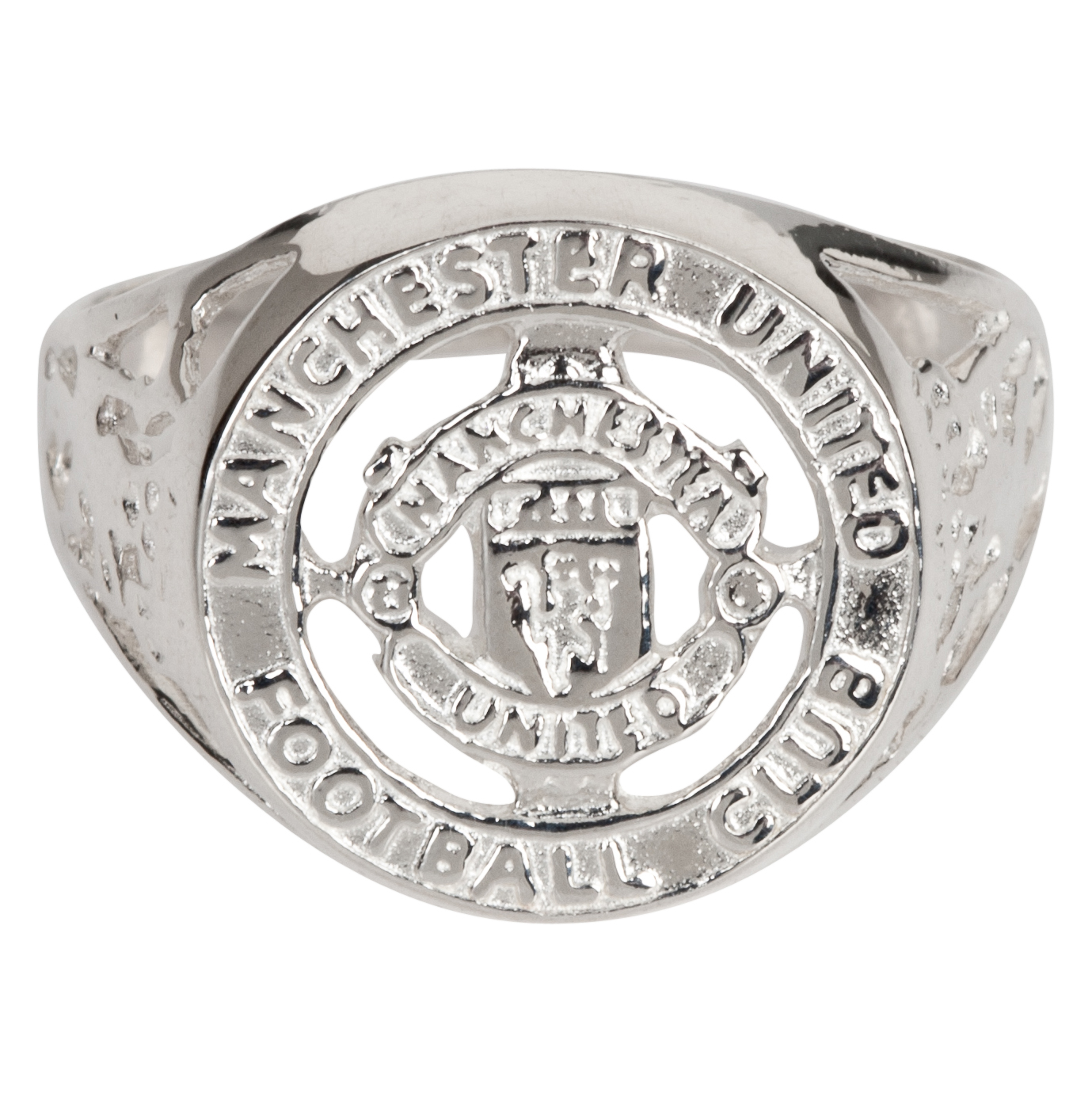 Manchester United Large Crest Cut Out Ring - Sterling Silver