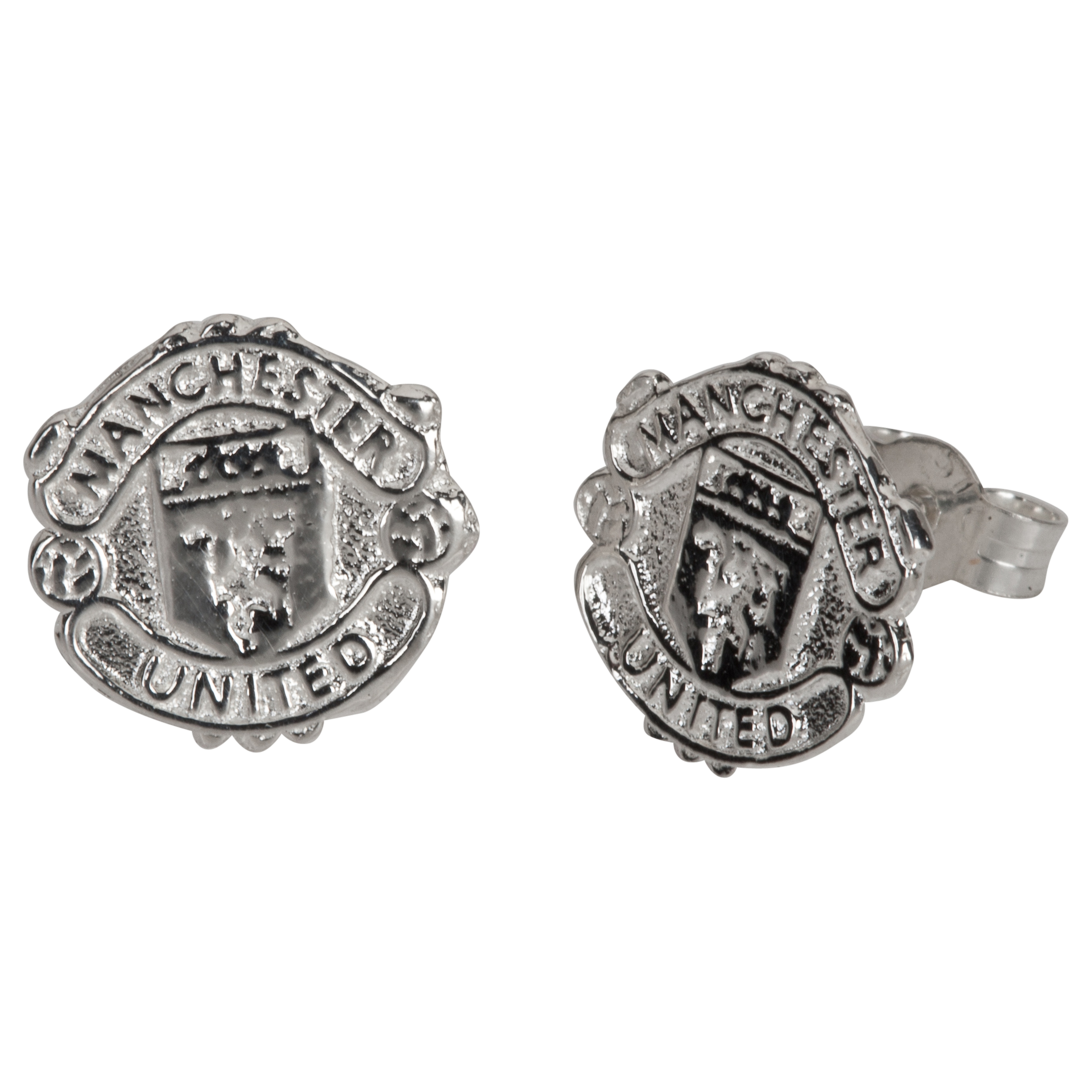 Manchester United Crest Earrings - Pair - Sterling Silver