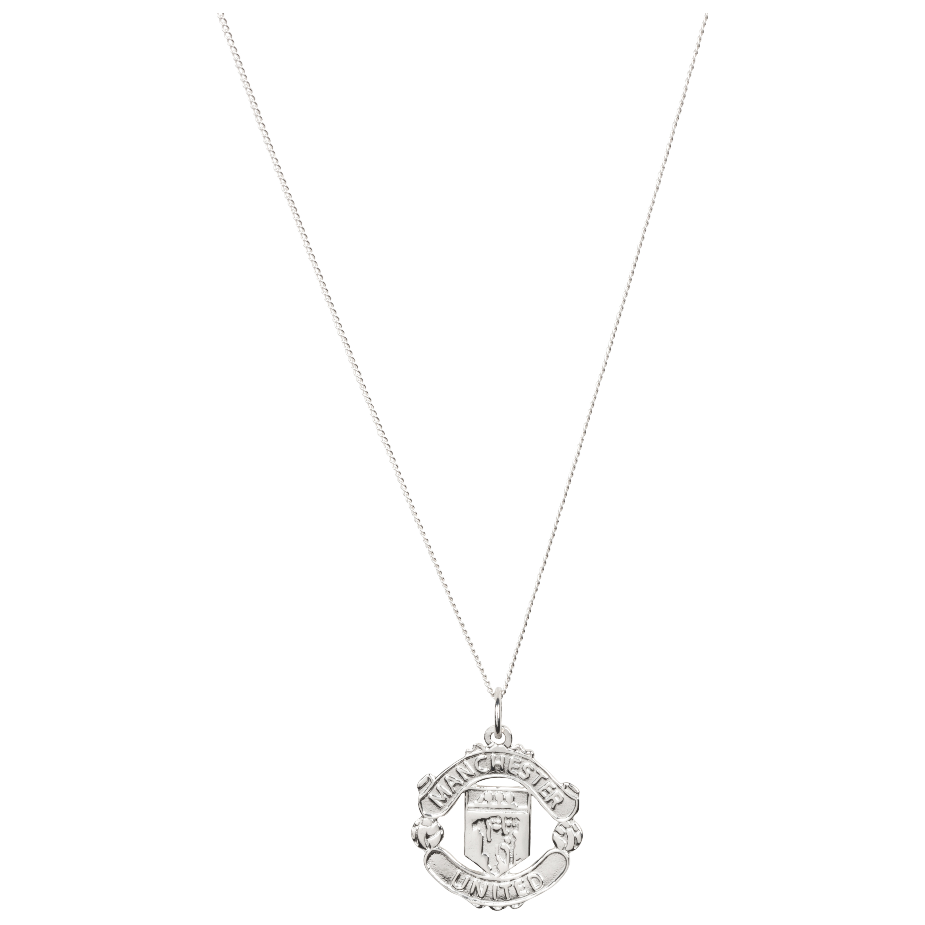 Manchester United Crest Pendant & Chain - Sterling Silver