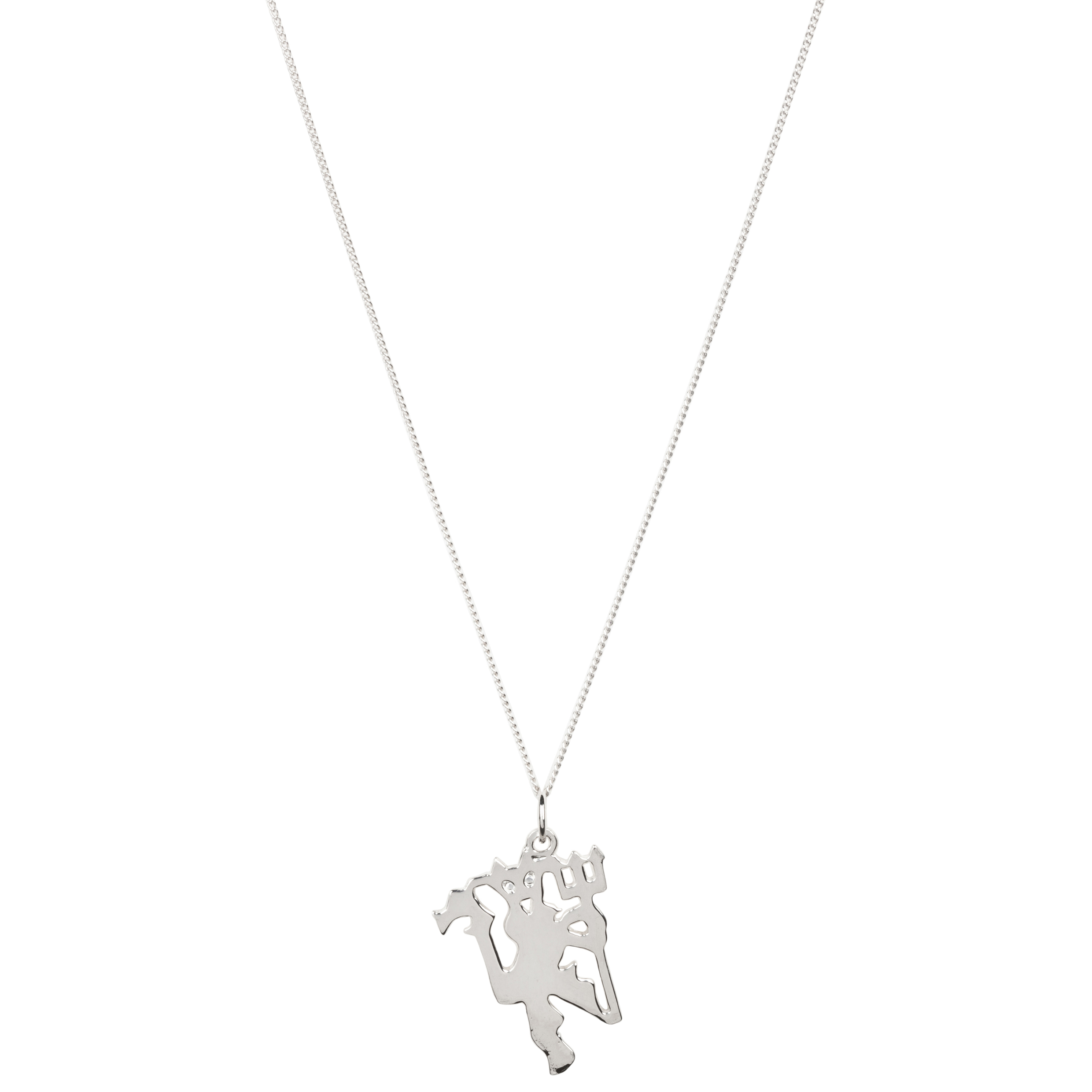 Manchester United Devil Pendant &amp; Chain - Sterling Silver