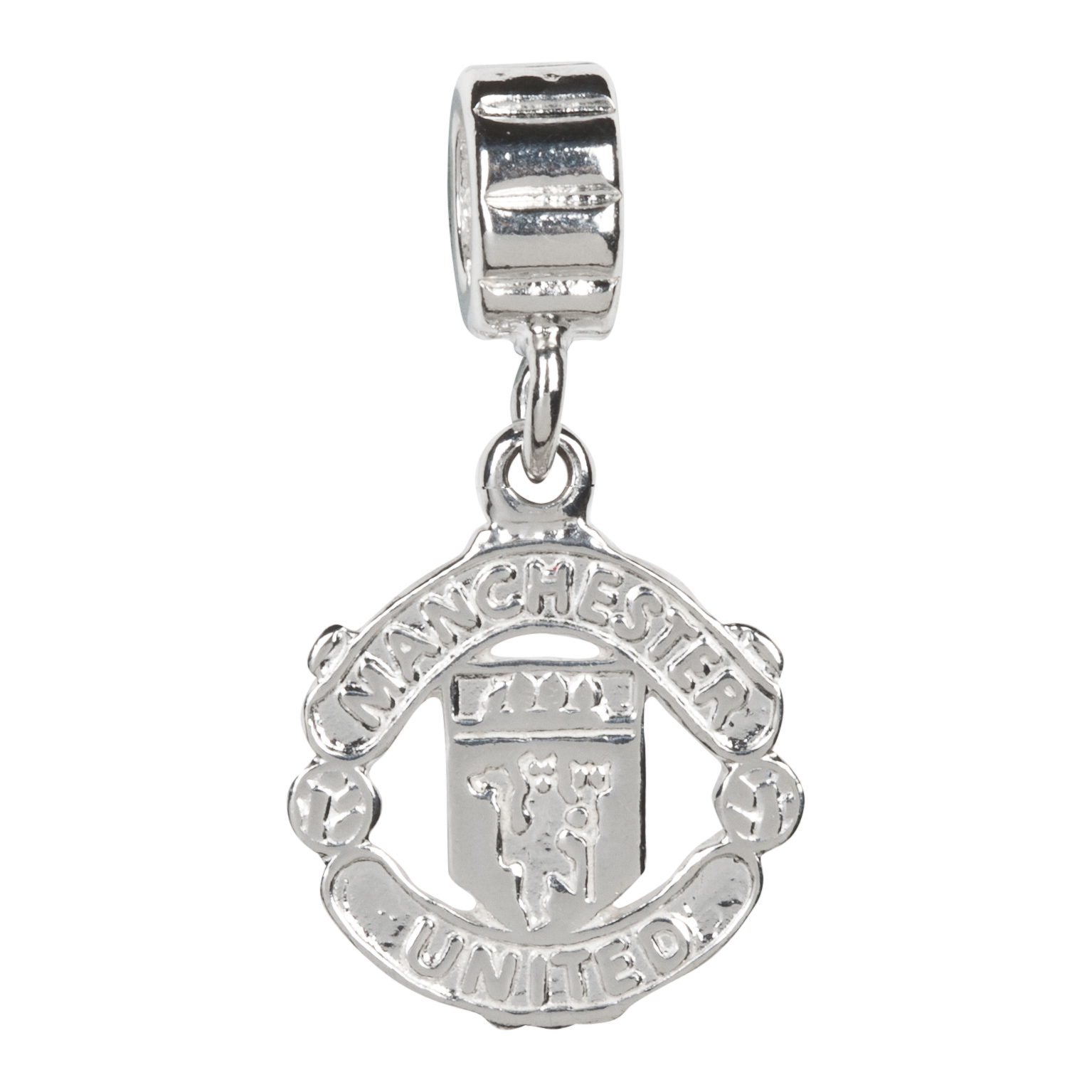 Manchester United Crest Bracelet Charm - Sterling Silver