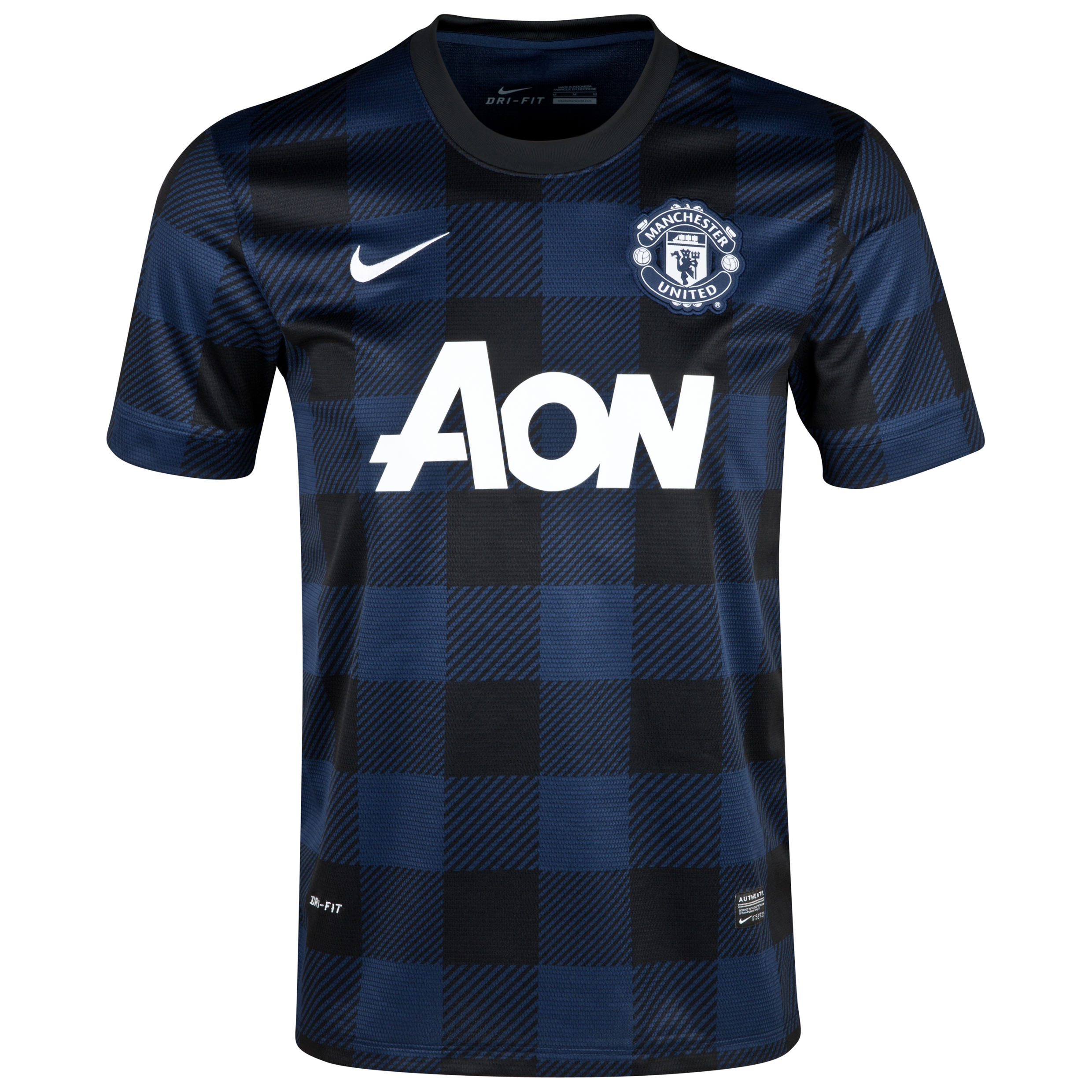 Manchester United UEFA Champions League Away Shirt 2013/14 - Womens with Vidic 15 printing