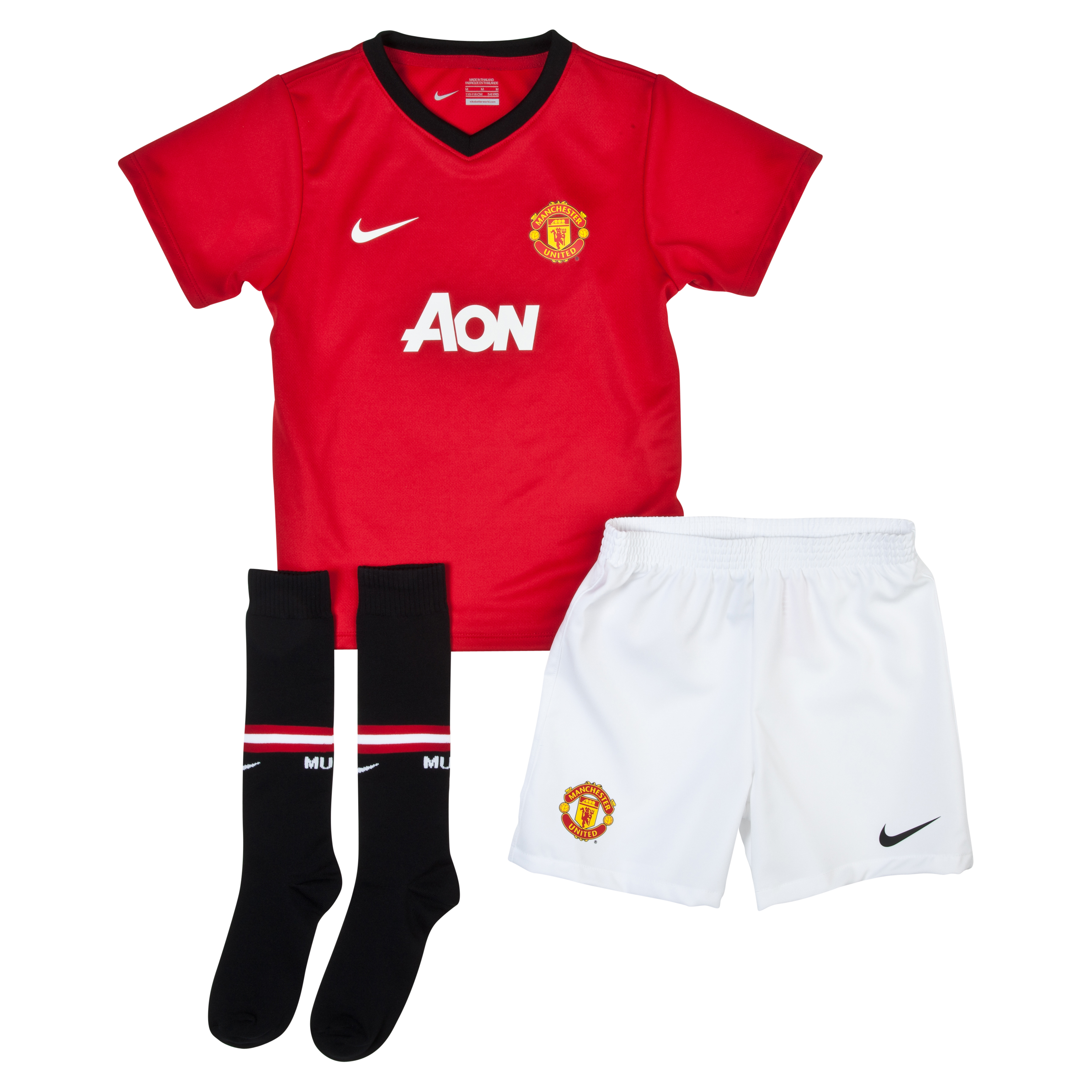 Manchester United Home Kit 2013/14 Little Boys