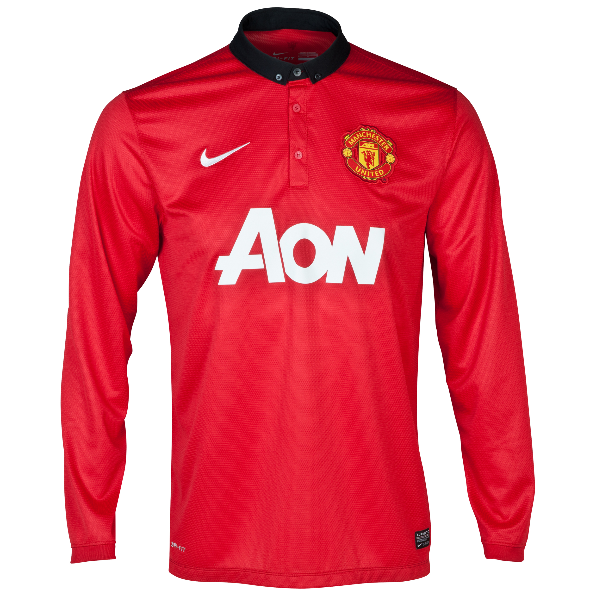 Manchester United Home Shirt 2013/14 - Long Sleeved - Kids