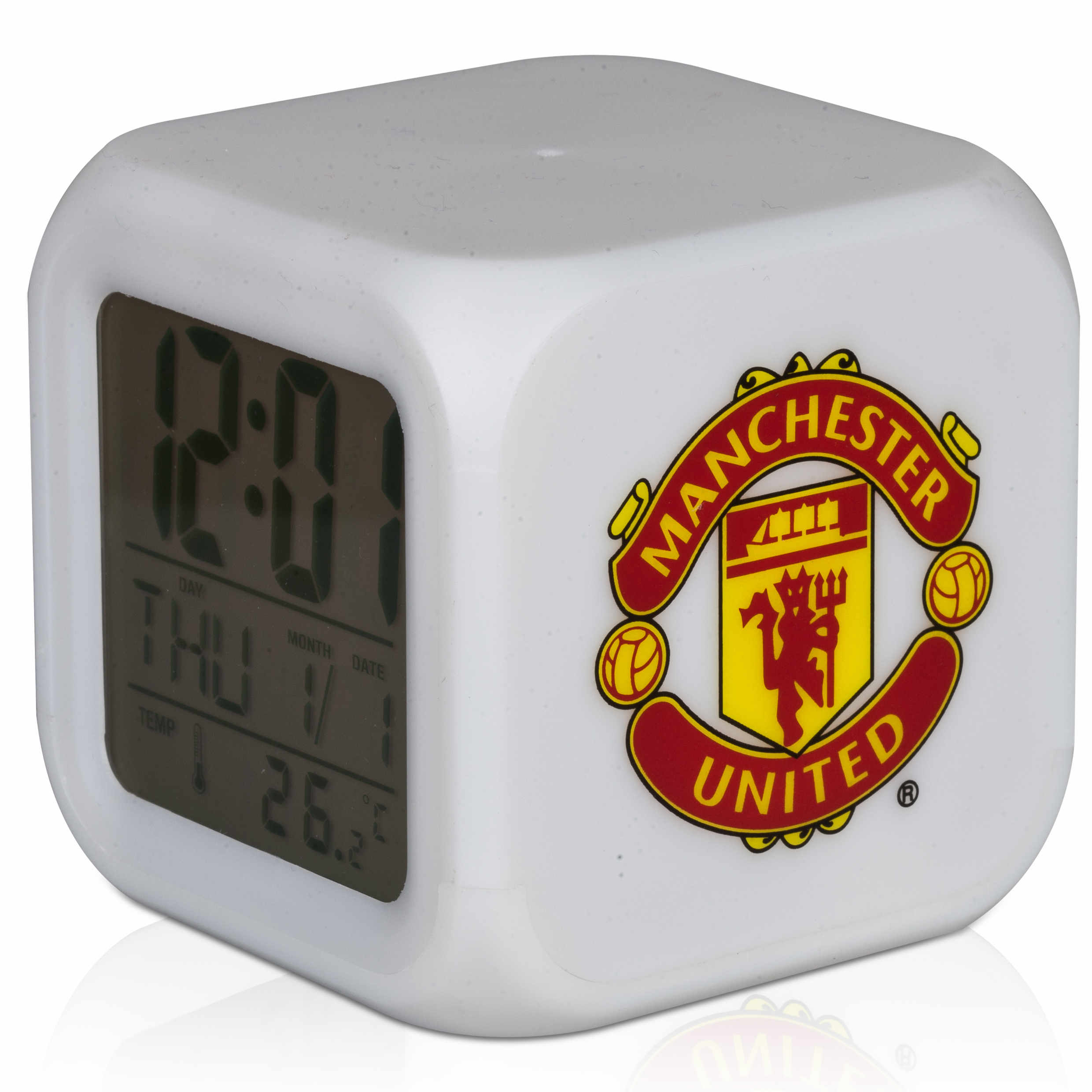 Manchester United Digital Cube Clock