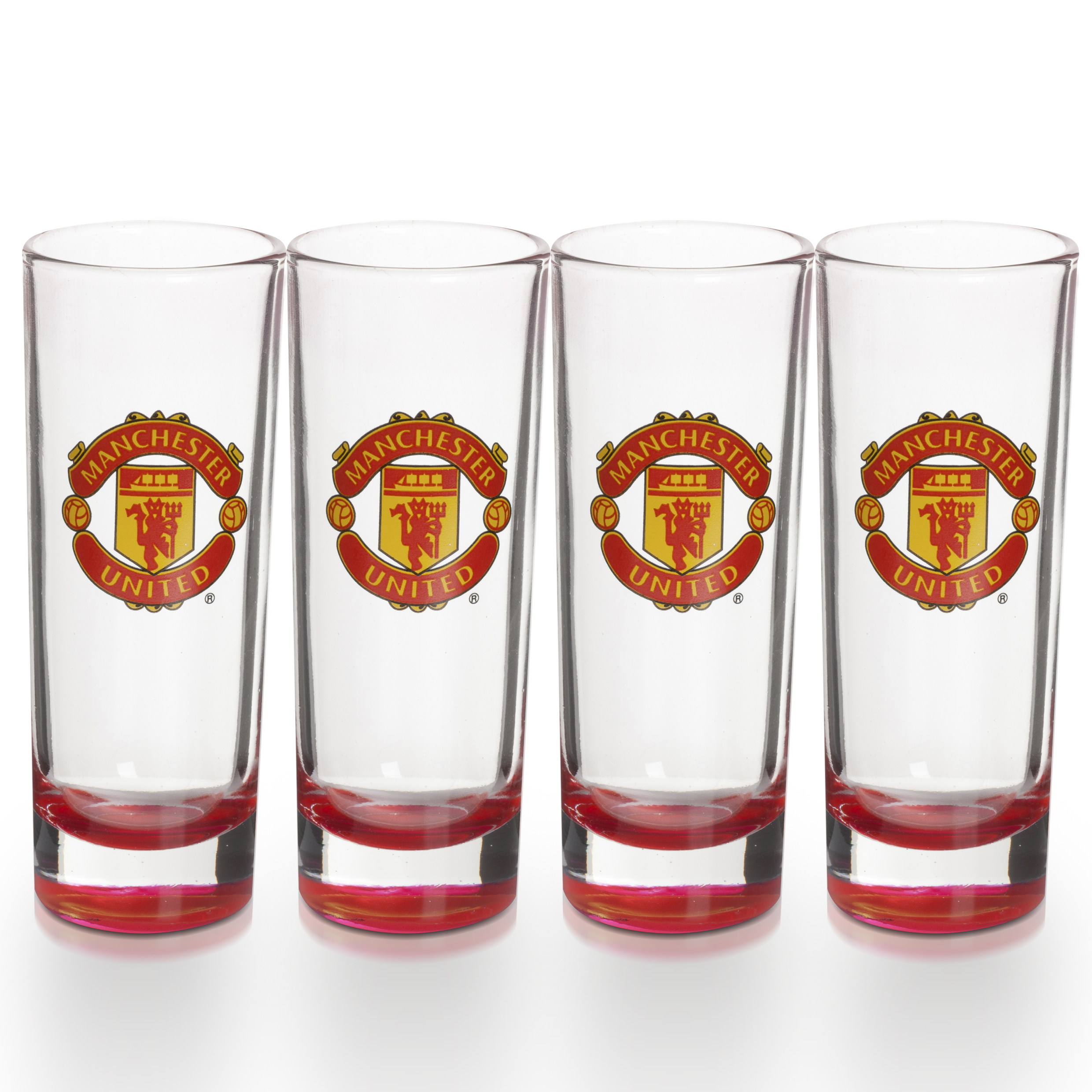 Manchester United Glory Shot Glasses - Four Pack