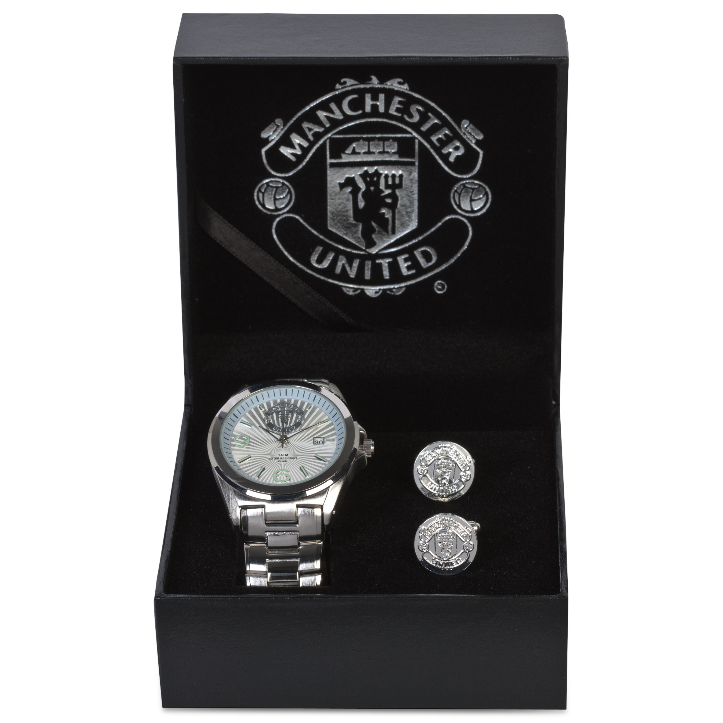 Manchester United Watch & Cufflink Set