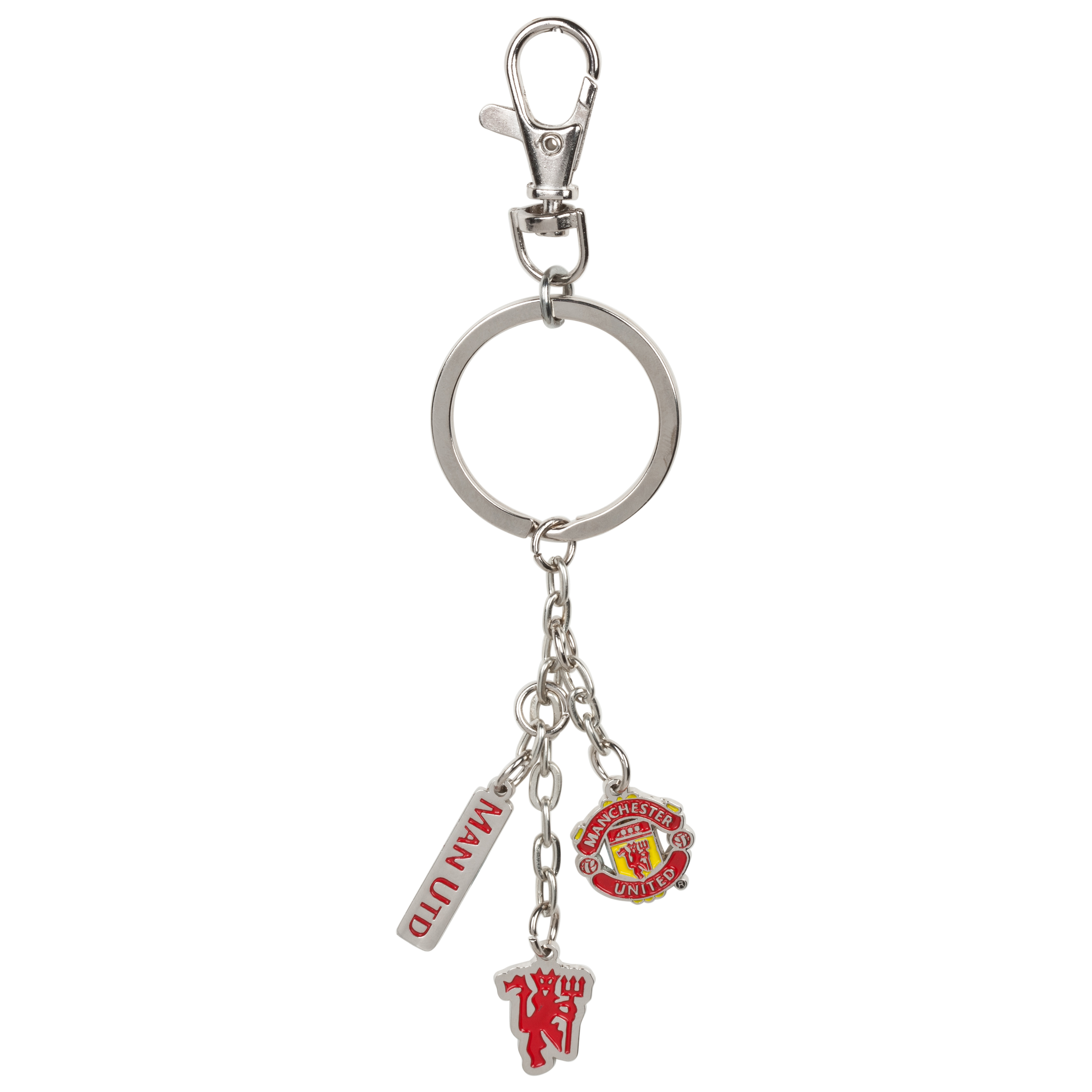 Manchester United 3 Piece Charm Key Ring