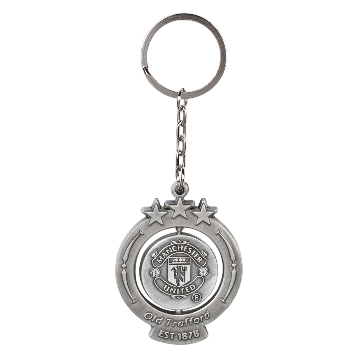 Manchester United Antique Spinner Key Ring