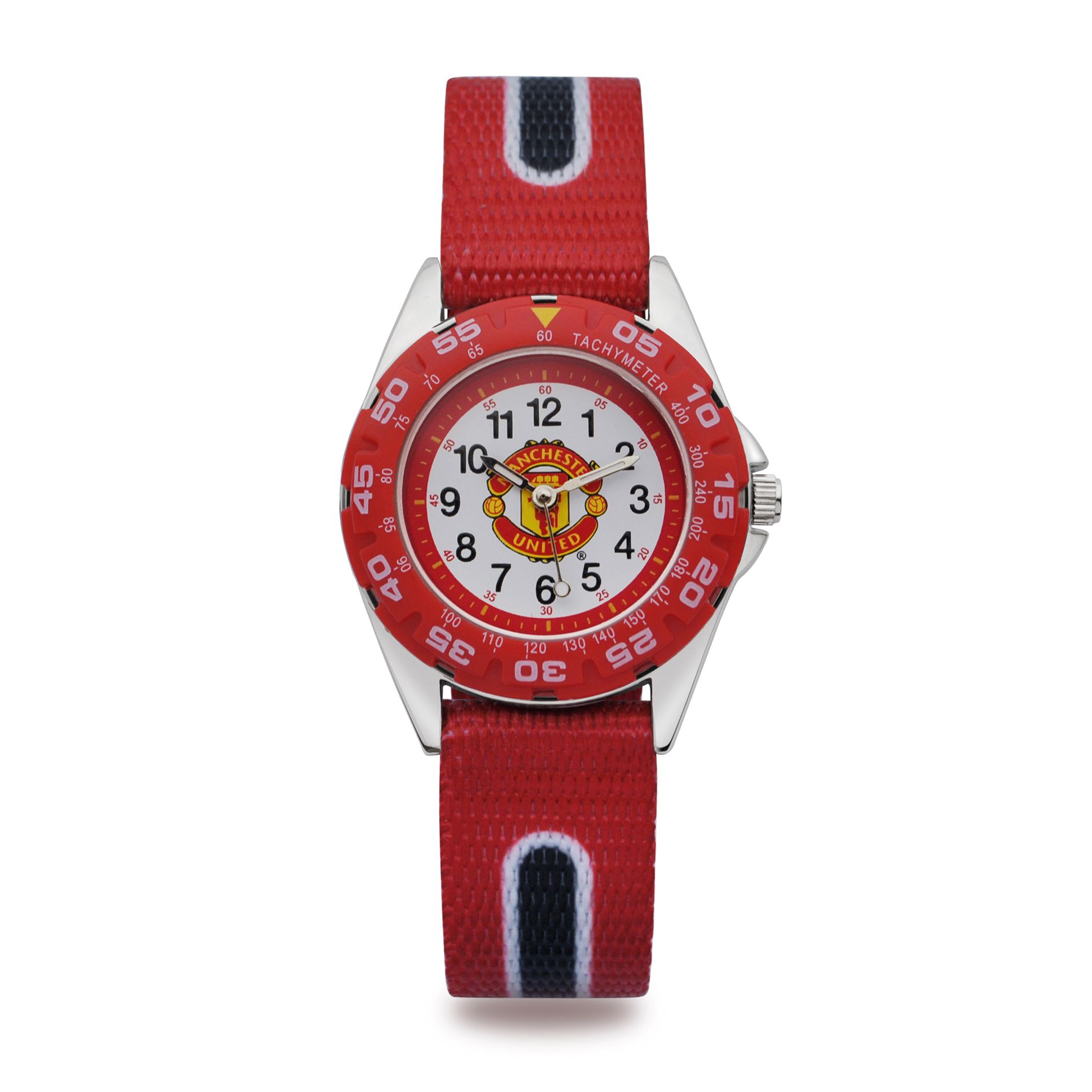 Manchester United Analogue Velcro Strap Watch - Kids