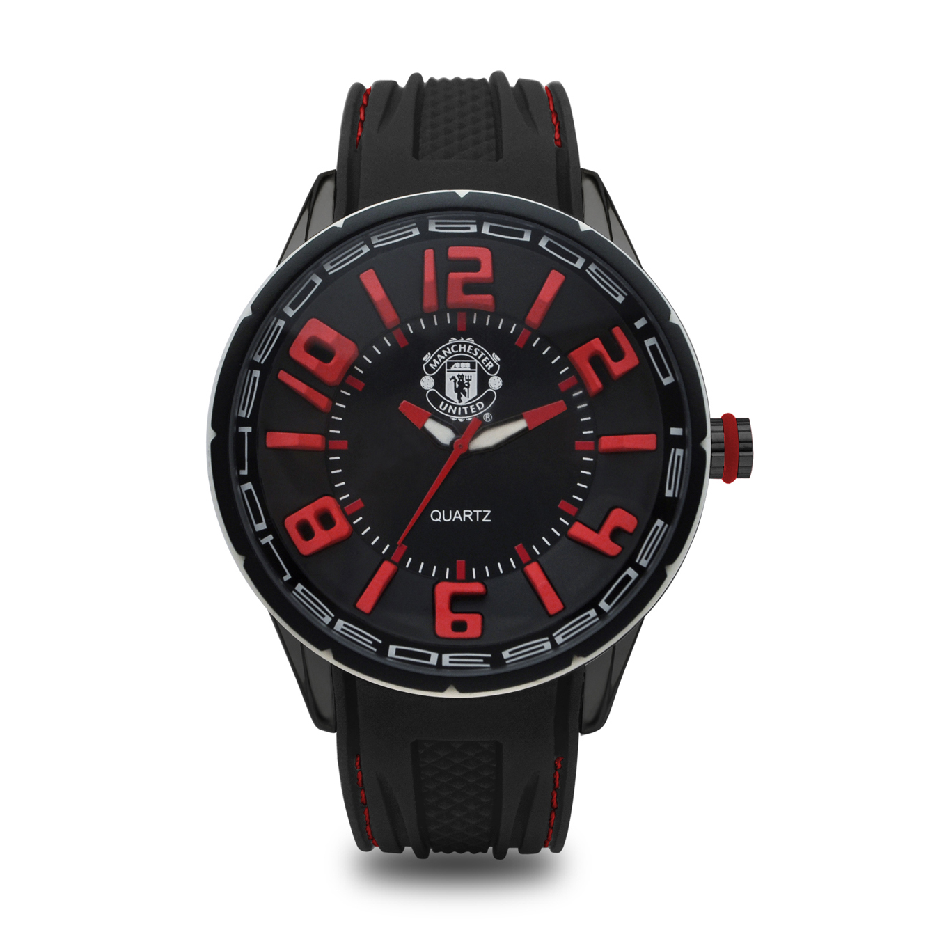 Manchester United Analogue Silicon Strap Watch