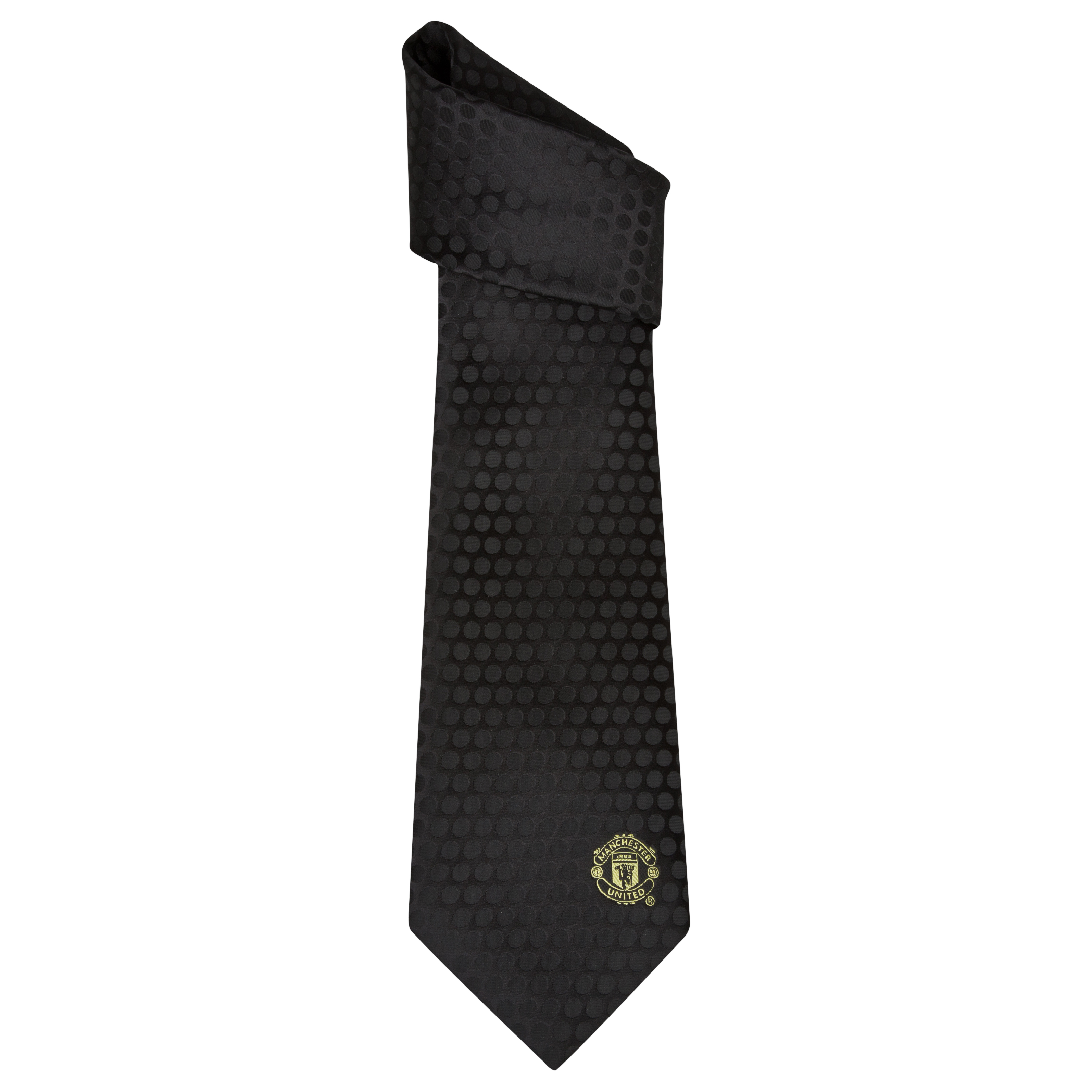 Manchester United Tonal Polka Dot Tie - Polyester