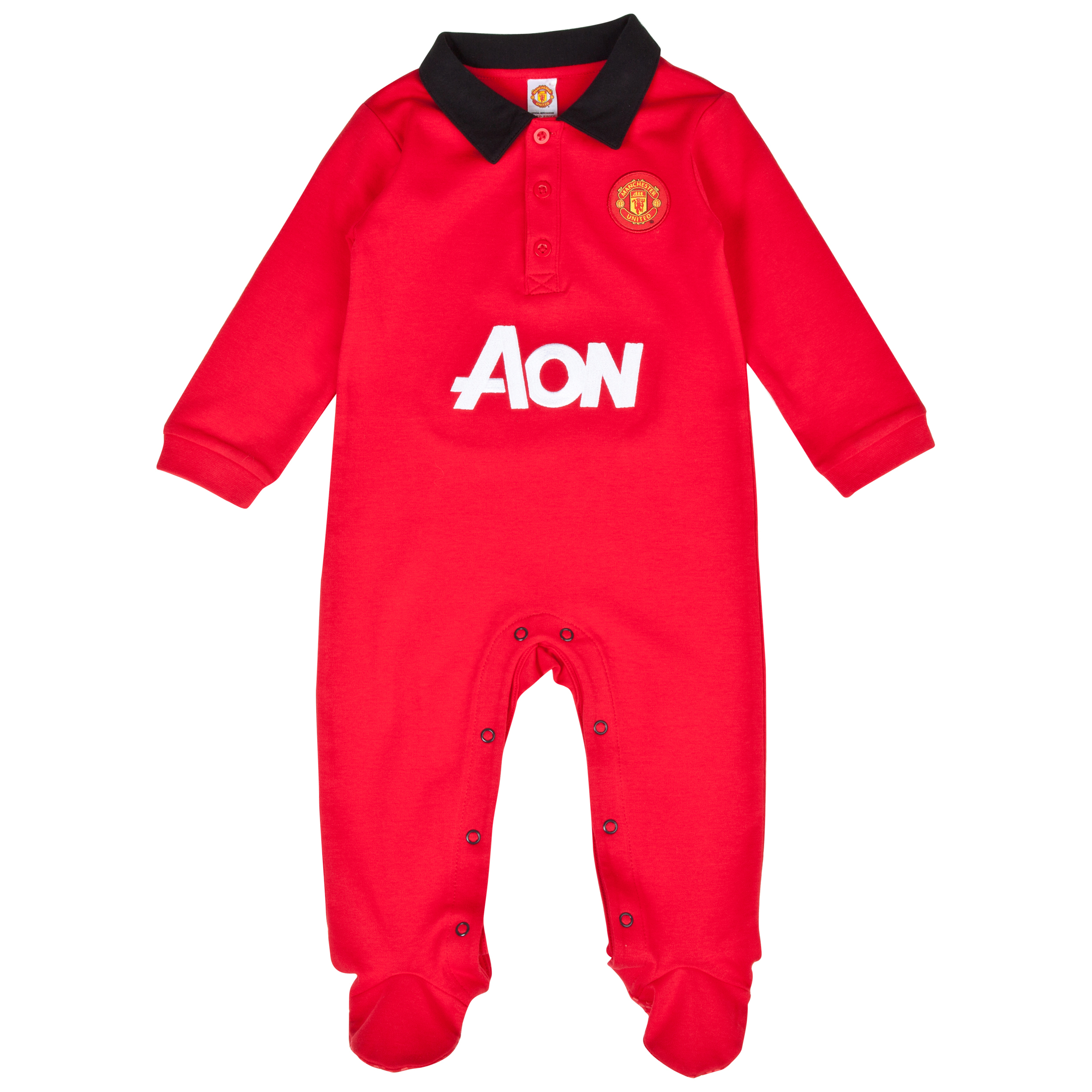 Manchester United Core Kit Sleepsuit - Baby Red