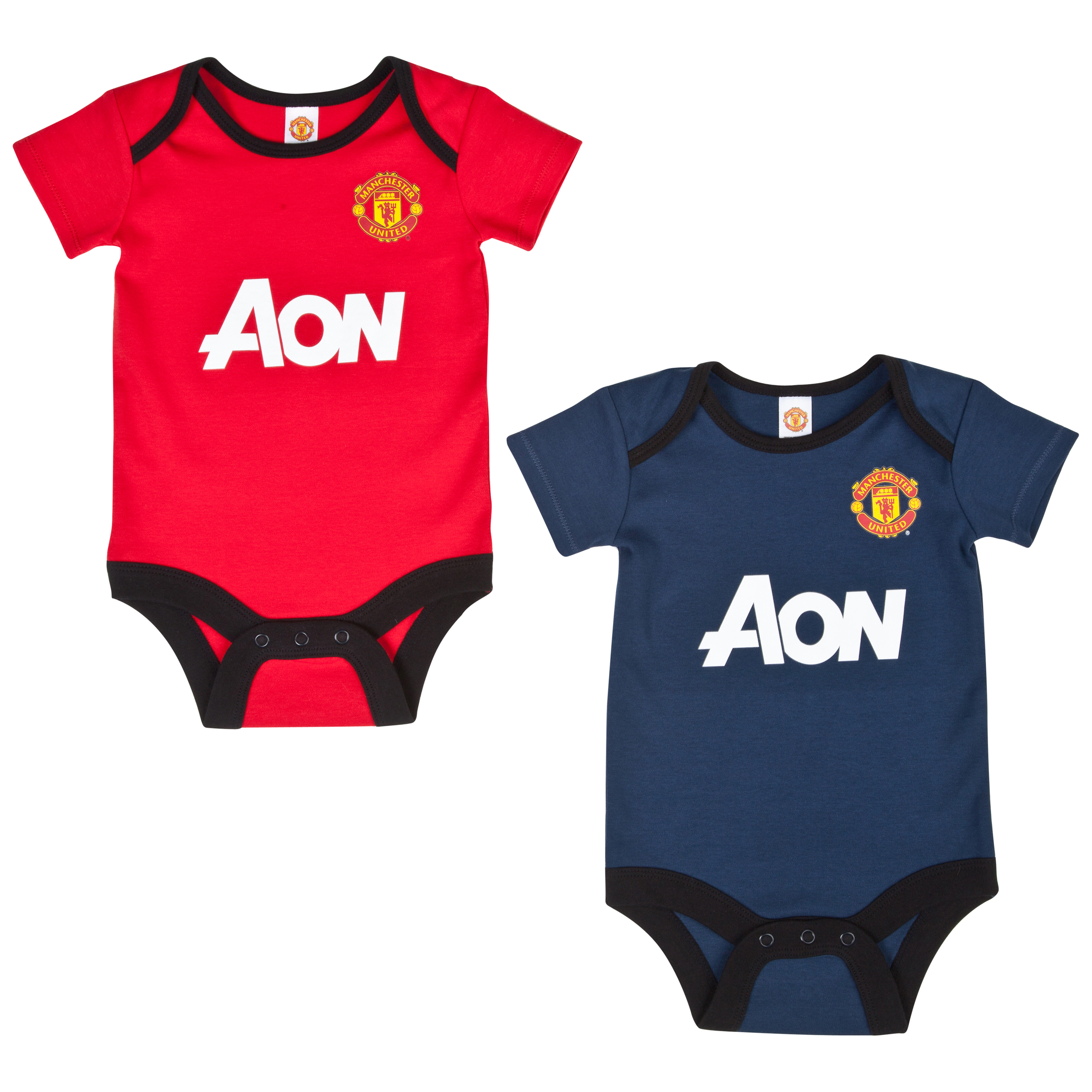 Manchester United Core 2 PK Kit Bodysuits - Baby Red