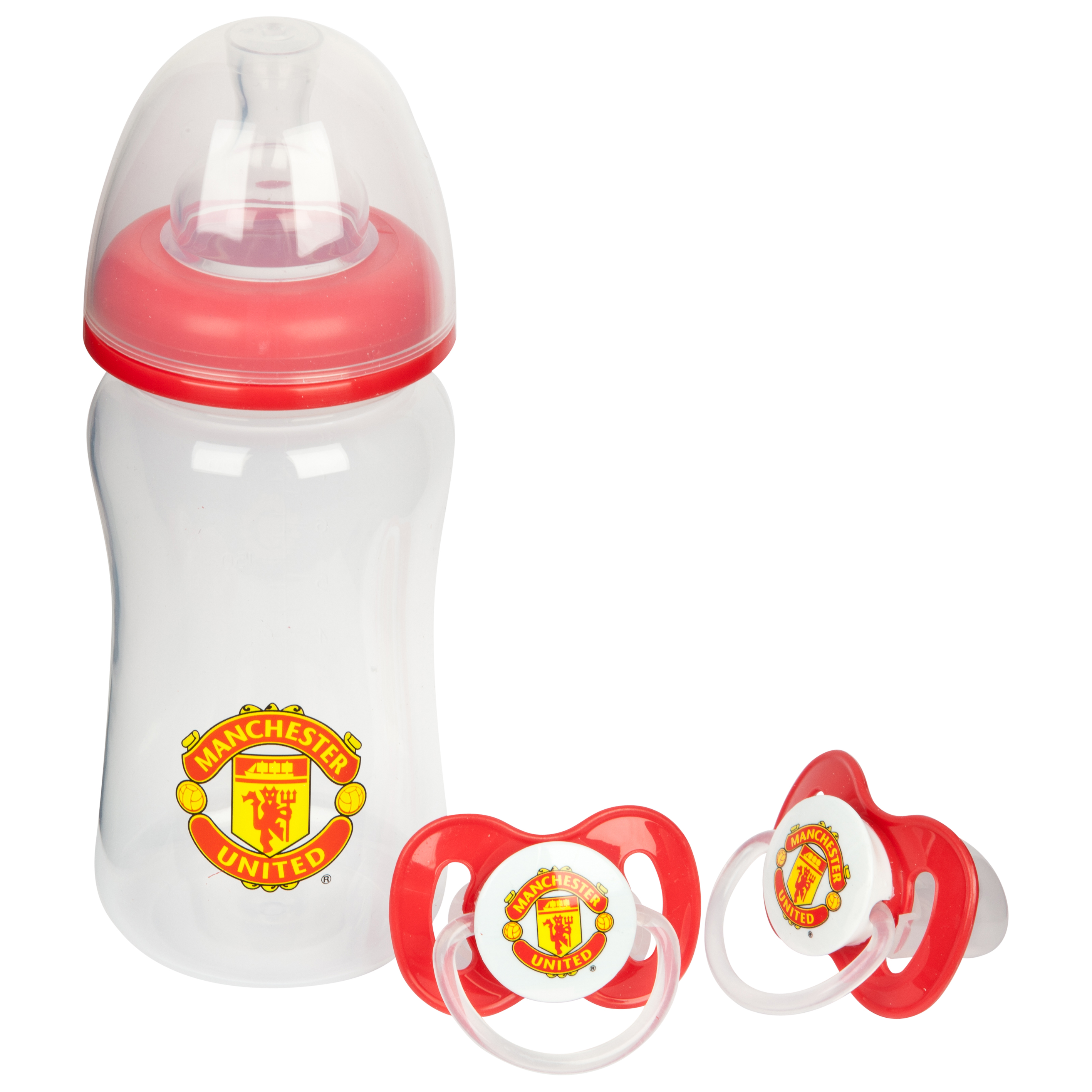 Manchester United Baby Bottle and Soothers Set