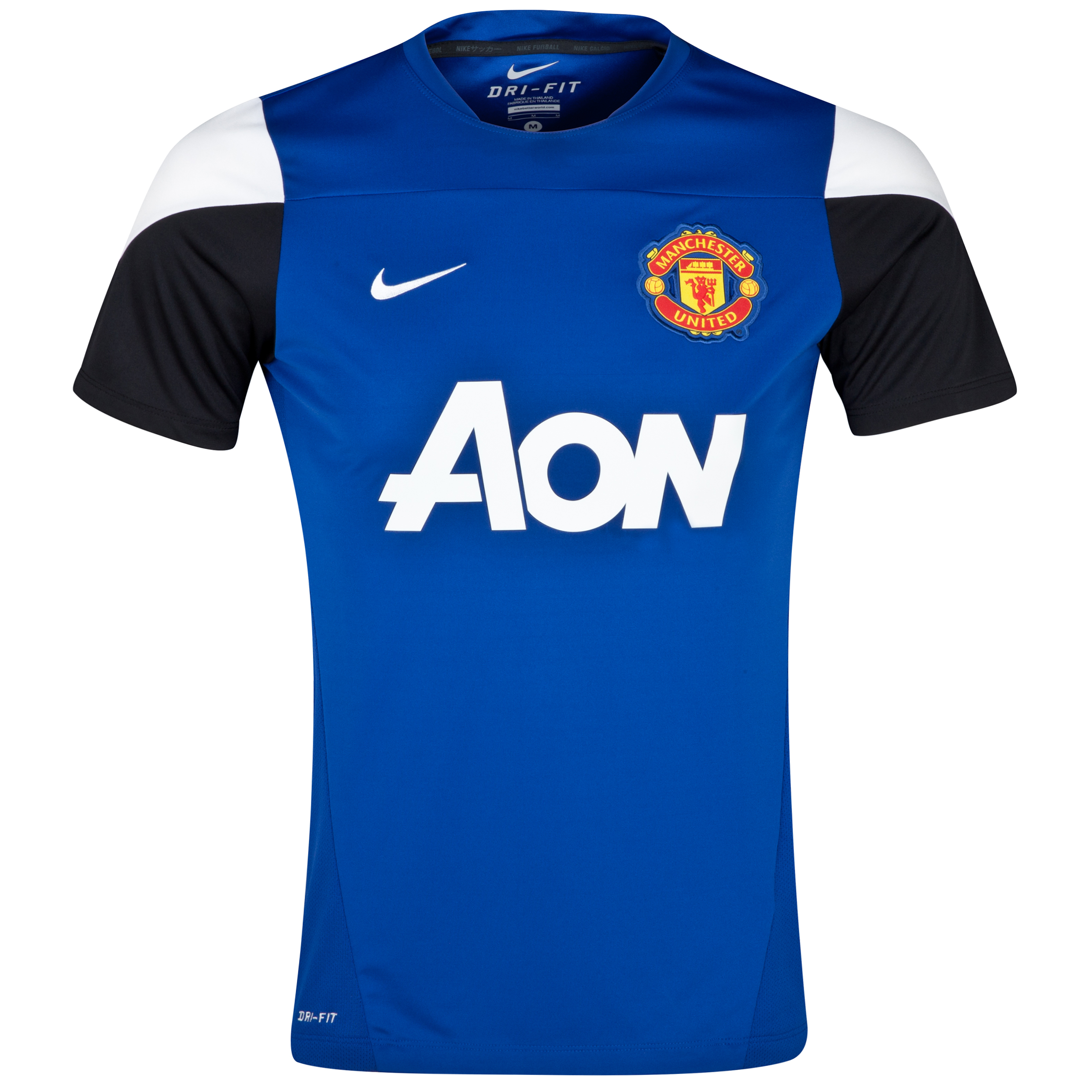 Manchester United Squad Short Sleeve Training Top Royal Blue