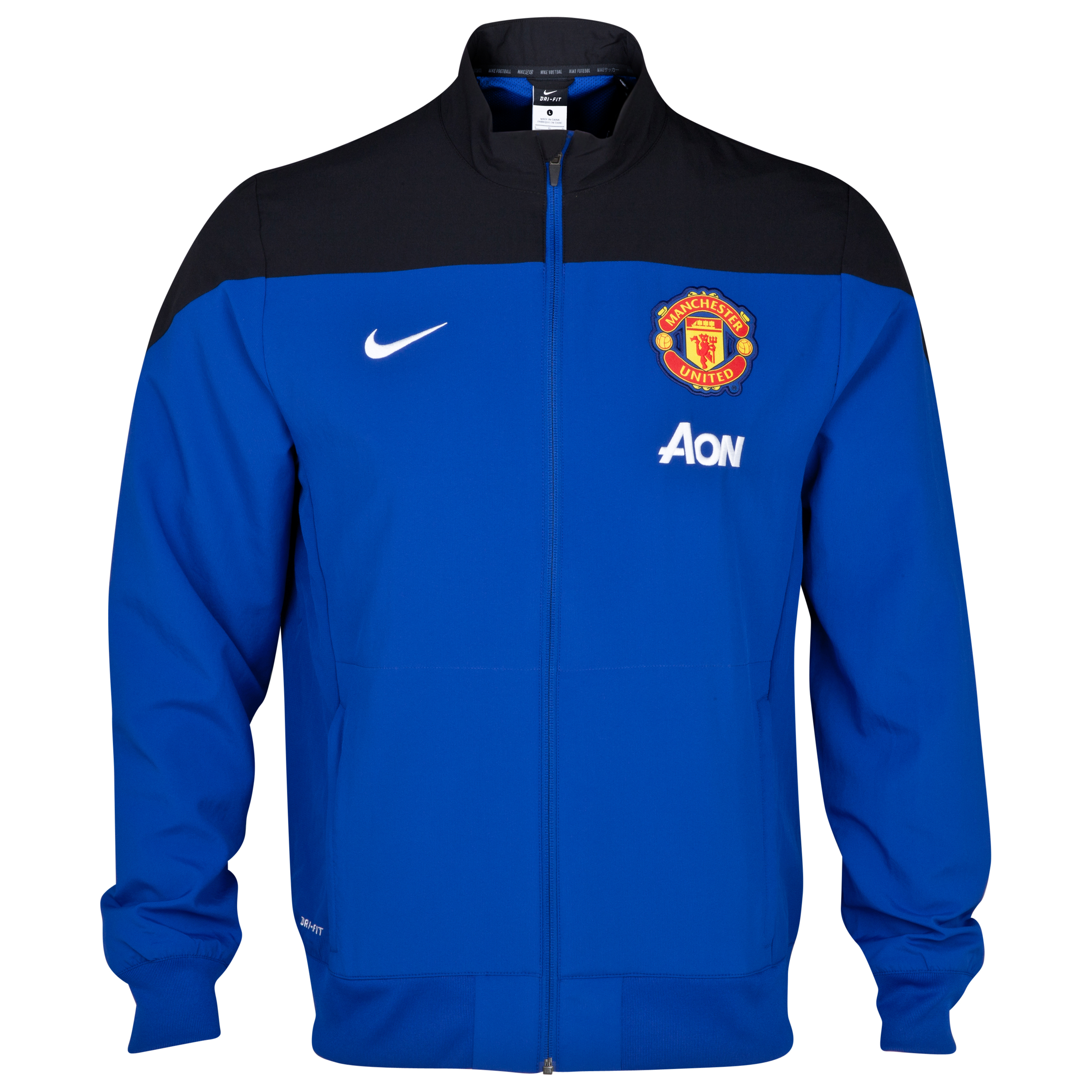 Manchester United Squad Sideline Woven Jacket Royal Blue