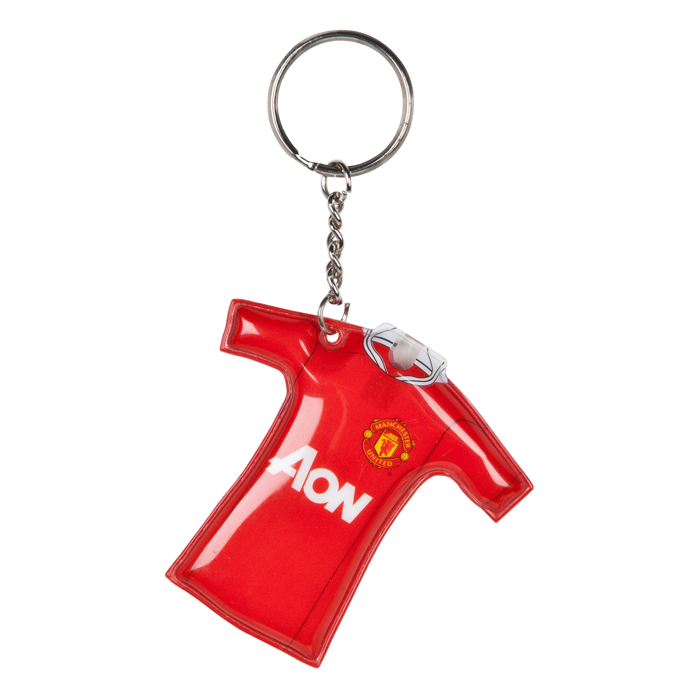 Manchester United Shirt Shaped Light Up Keyring