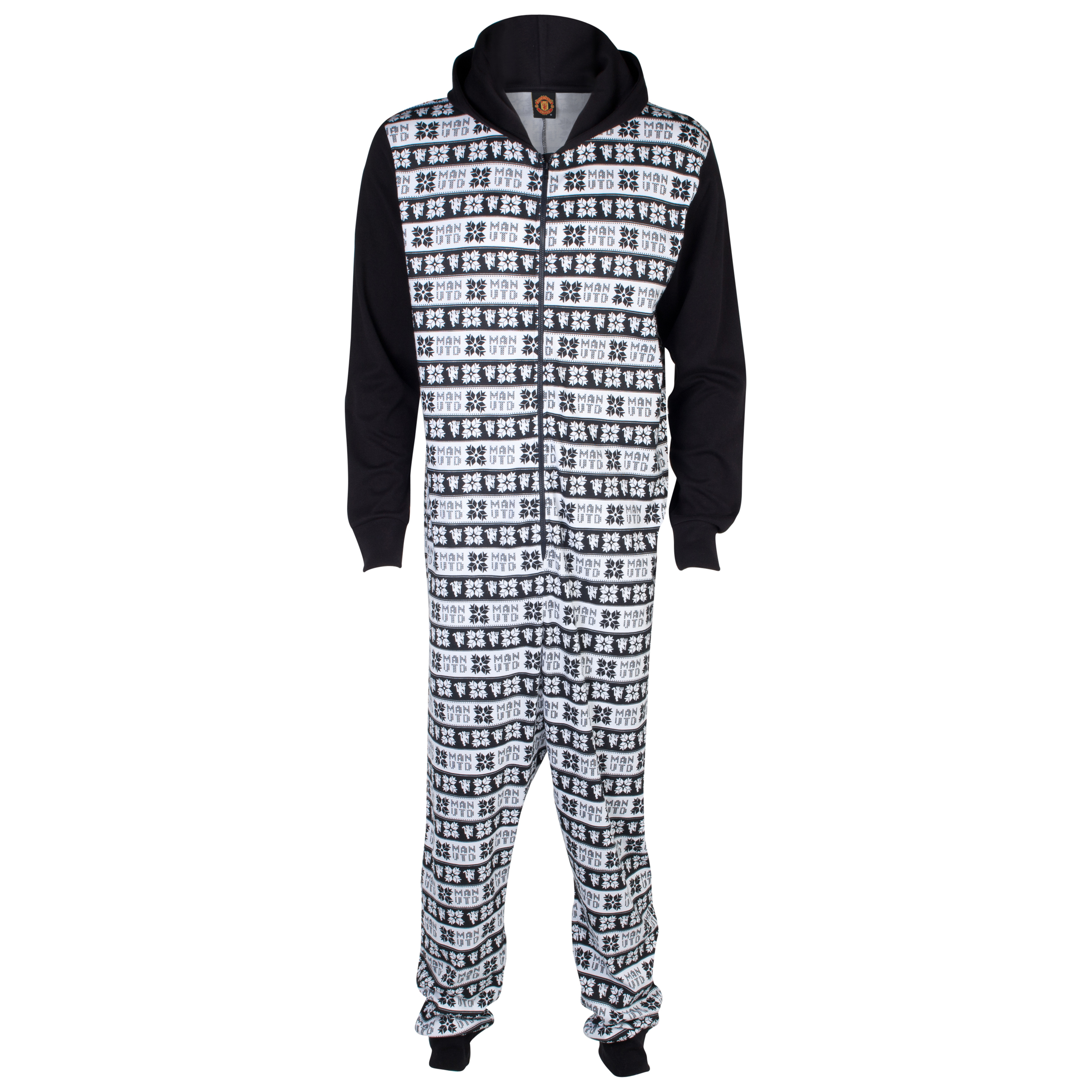 Manchester United Fairisle Onesie Black