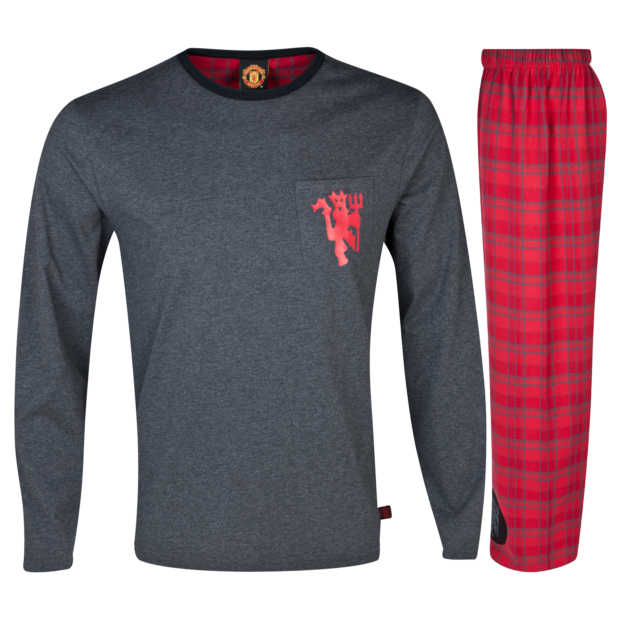 Manchester United Devil Pyjamas Charcoal