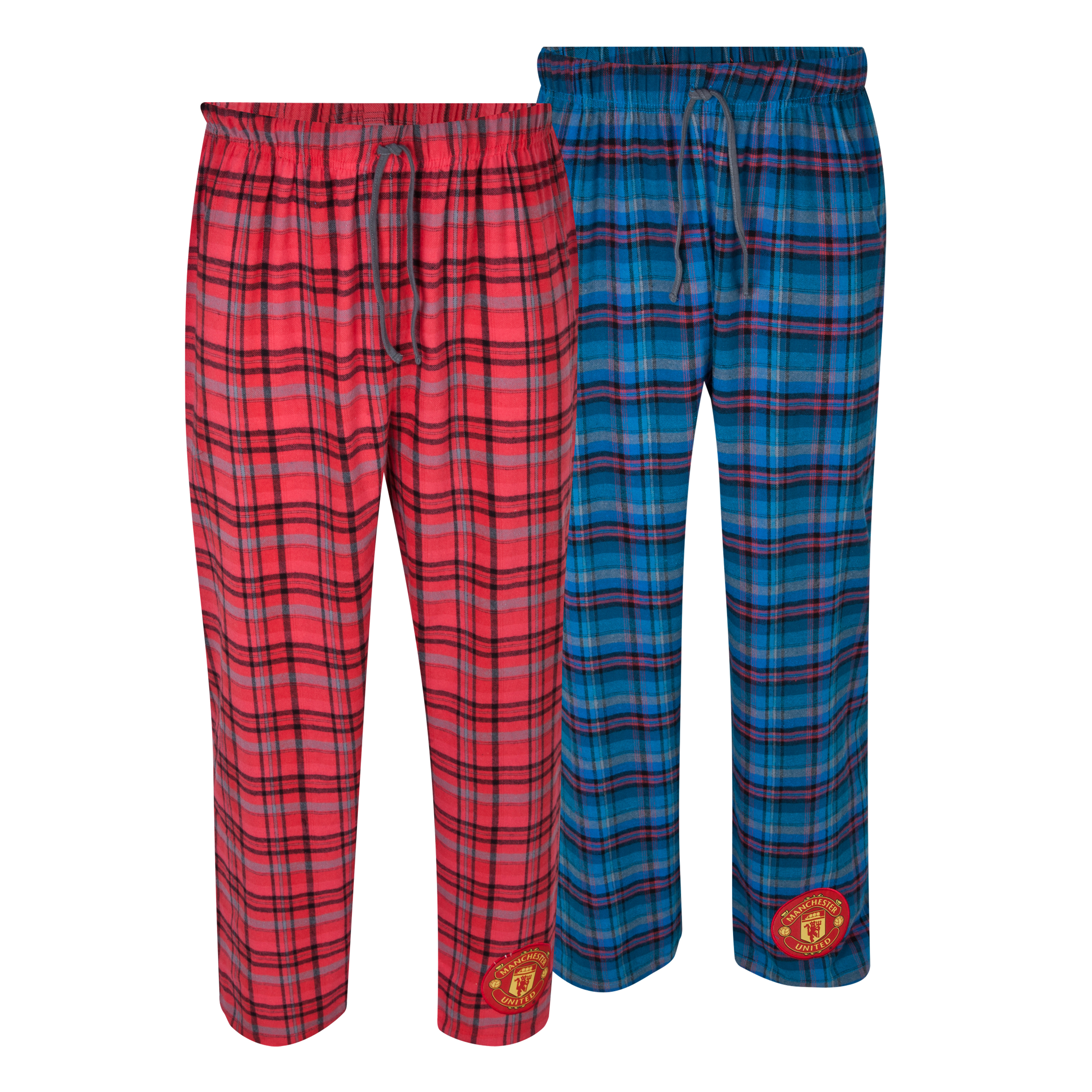 Manchester United 2 PK Checked Lounge Pants Red