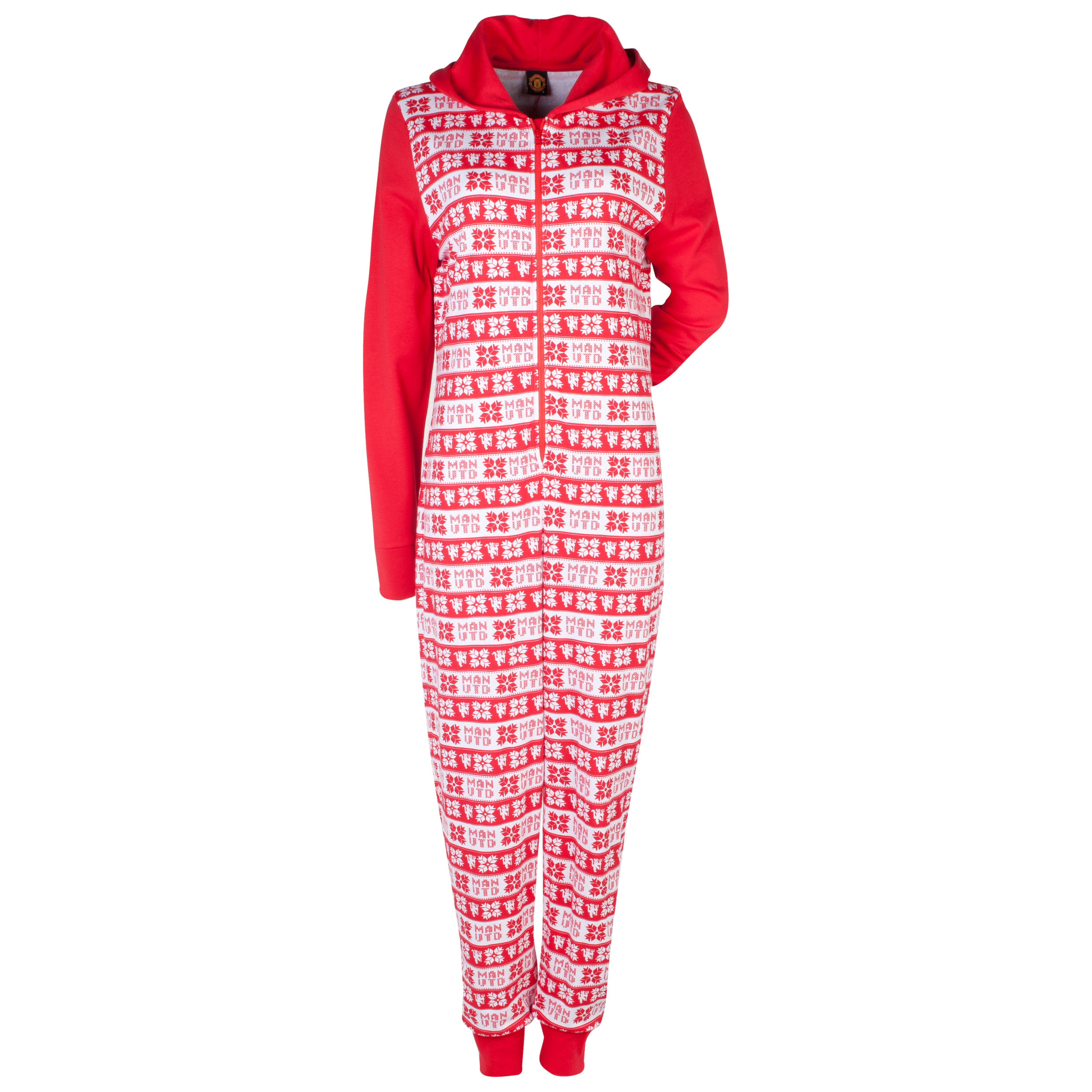 Manchester United Fairisle Onesie - Womens Red