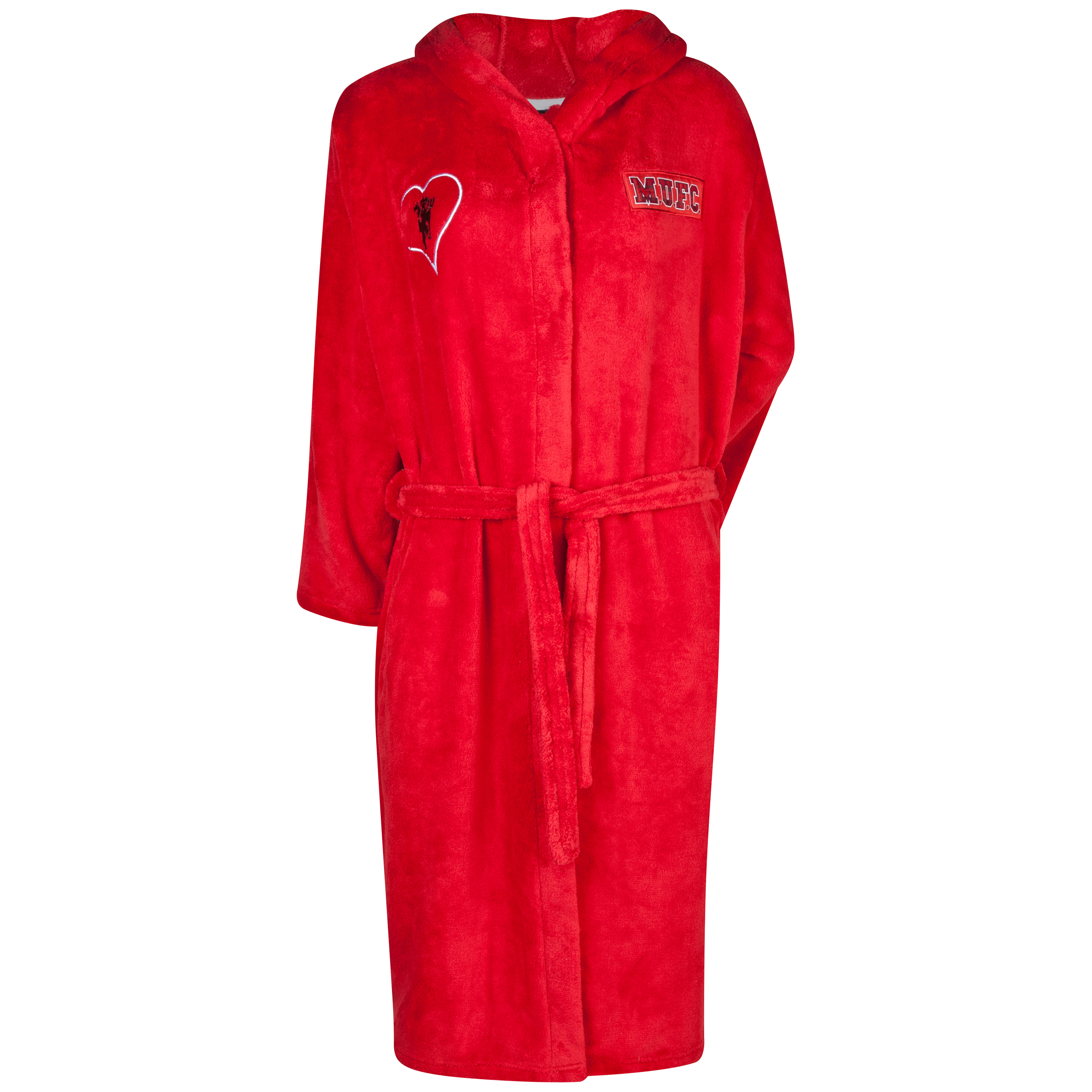 Manchester United Devil Hooded Robe - Womens Red