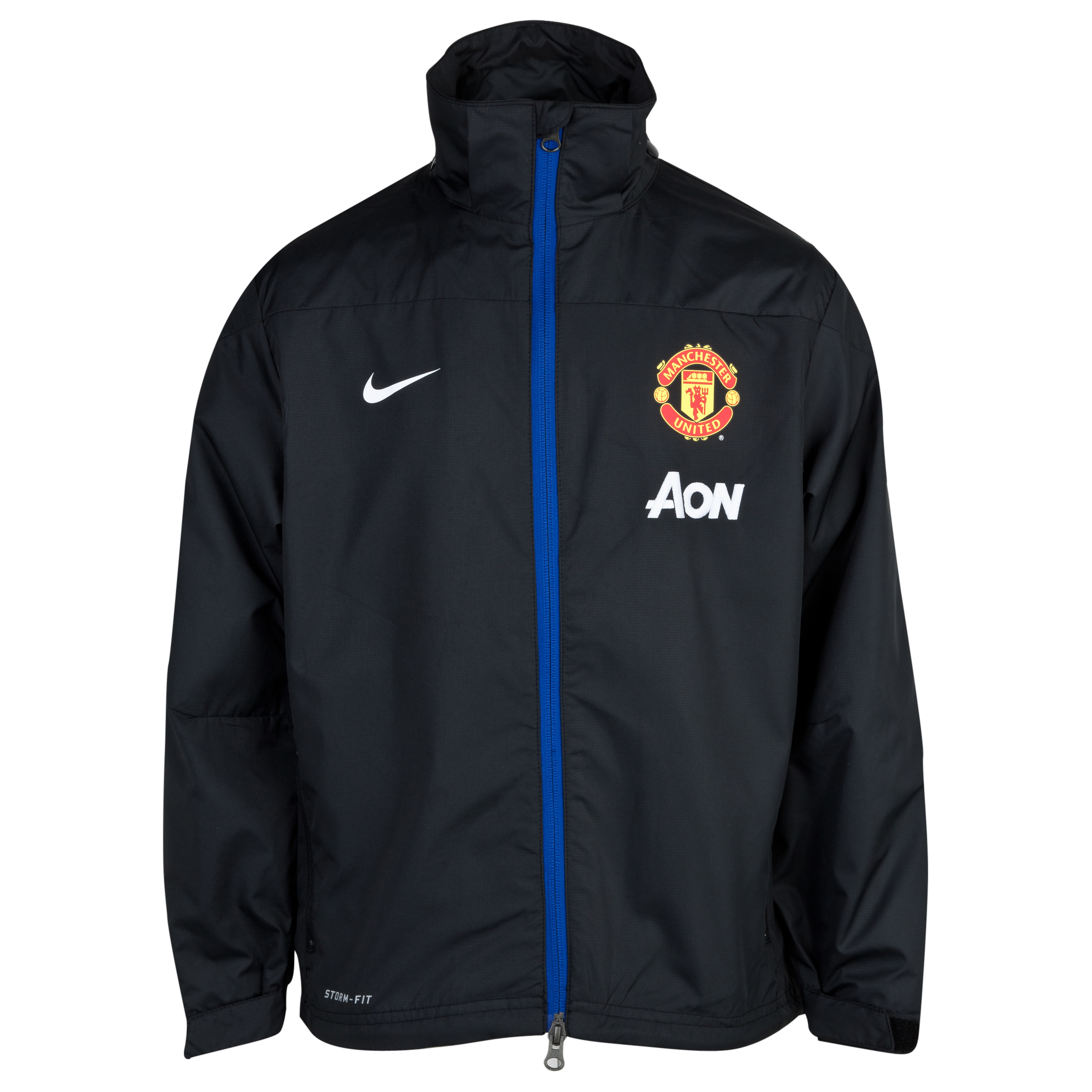Manchester United Squad Rain Jacket Black