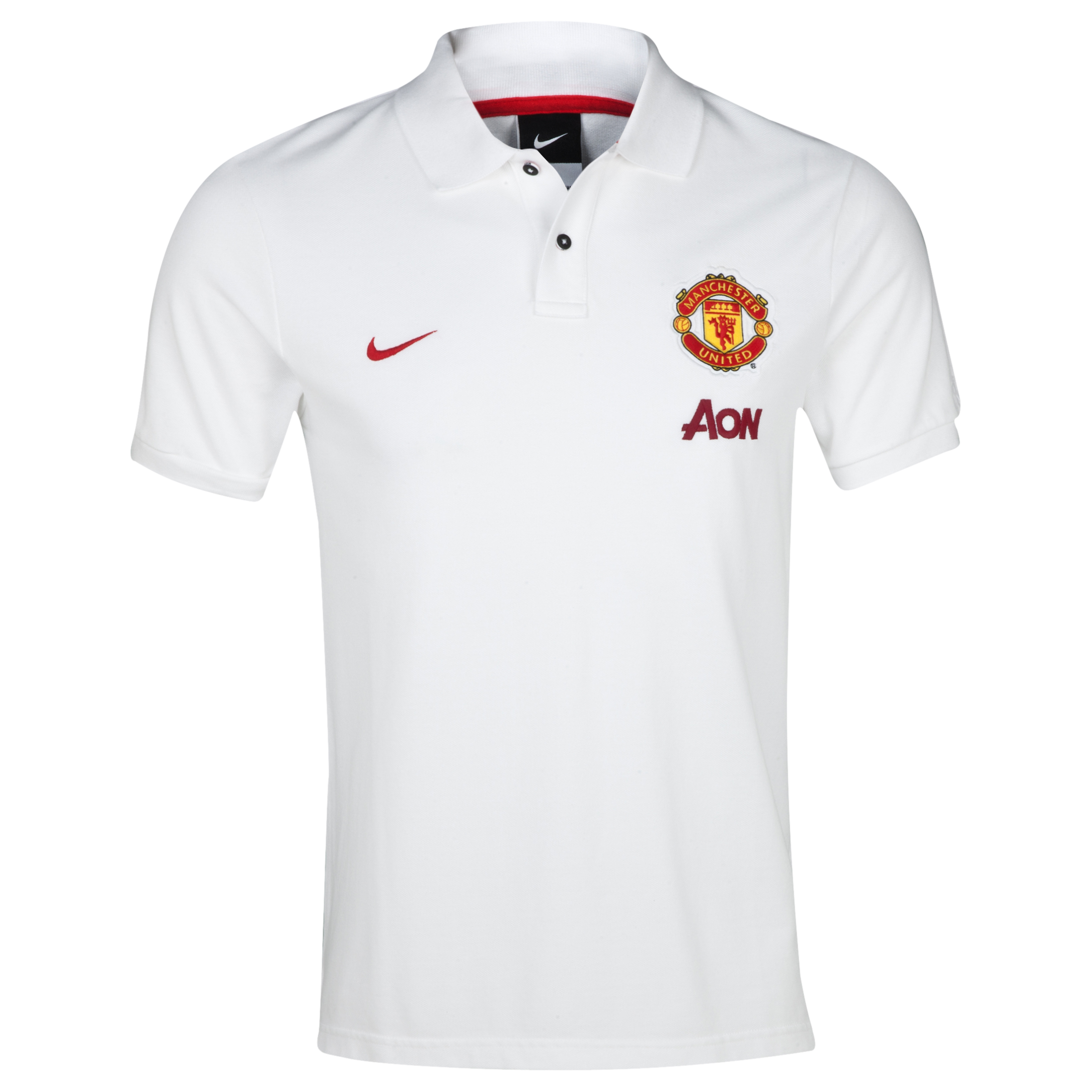 Manchester United Authentic Grand Slam Polo White
