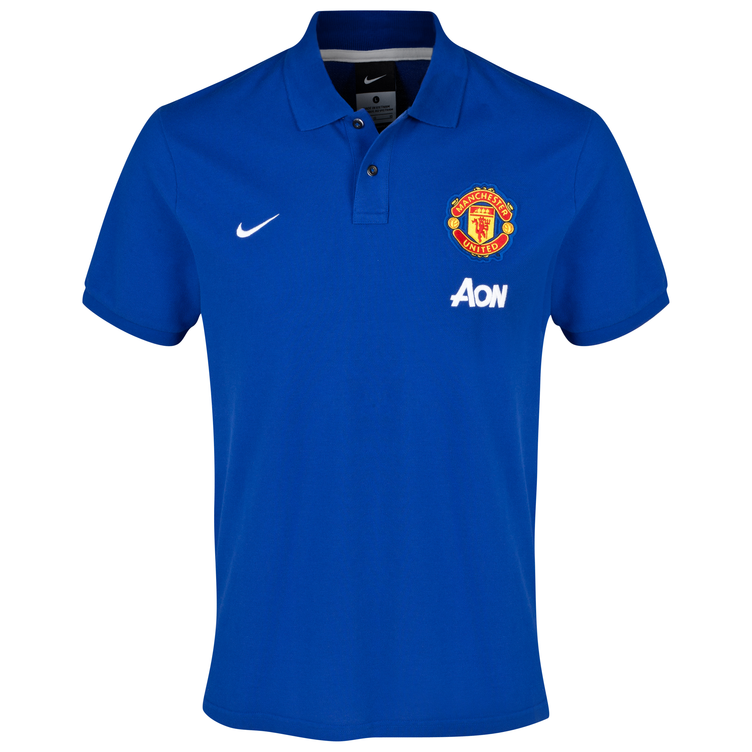 Manchester United Authentic Grand Slam Polo Navy
