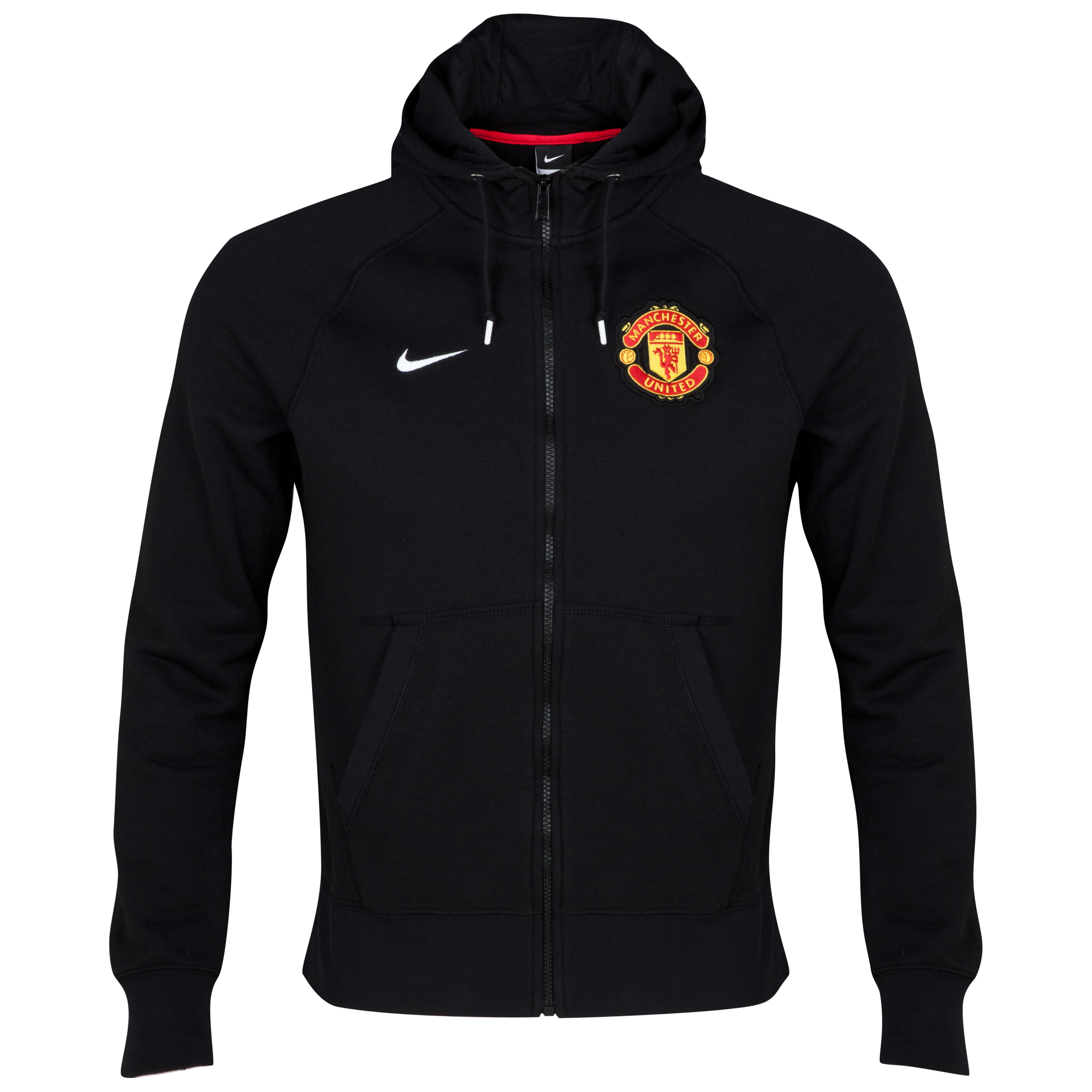 Manchester United Authentic Full Zip Hoody Black