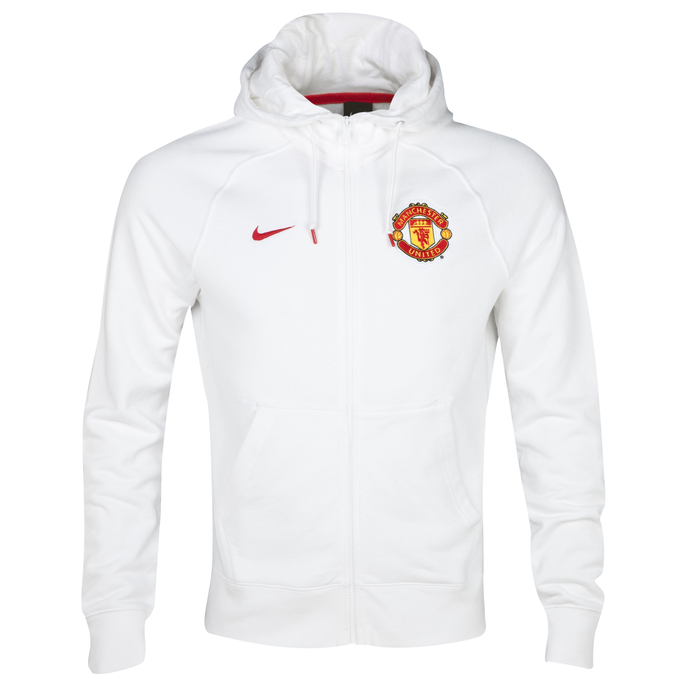 Manchester United Authentic Full Zip Hoody White